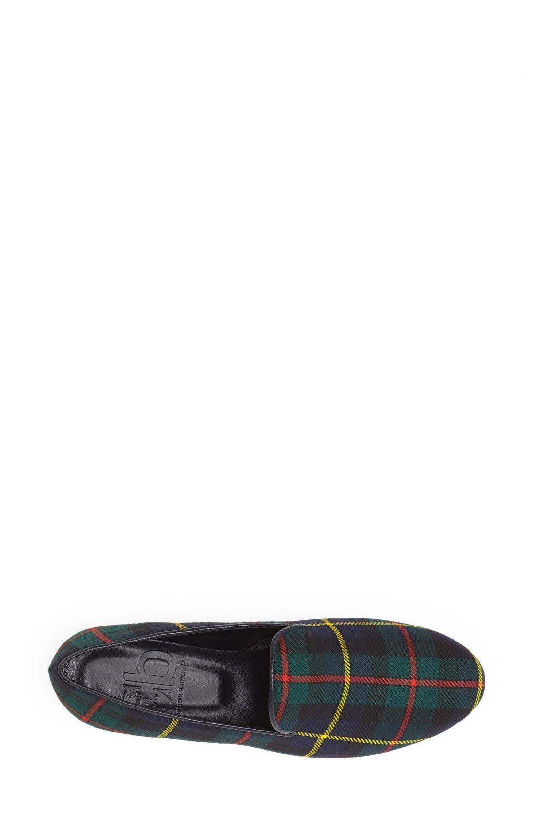 Alternate Image 3  - CB Made in Italy Plaid Smoking Loafer (Women)