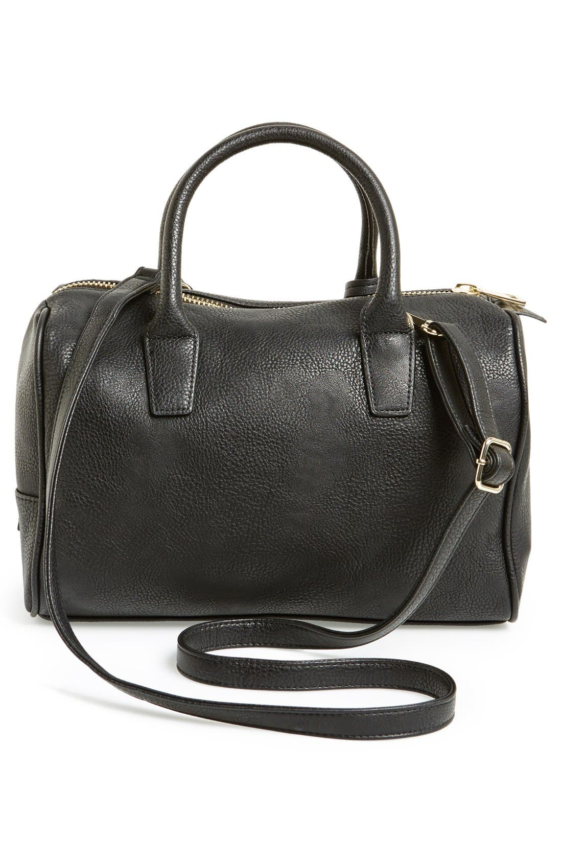 Alternate Image 4  - POVERTY FLATS by rian Faux Leather Zip Satchel