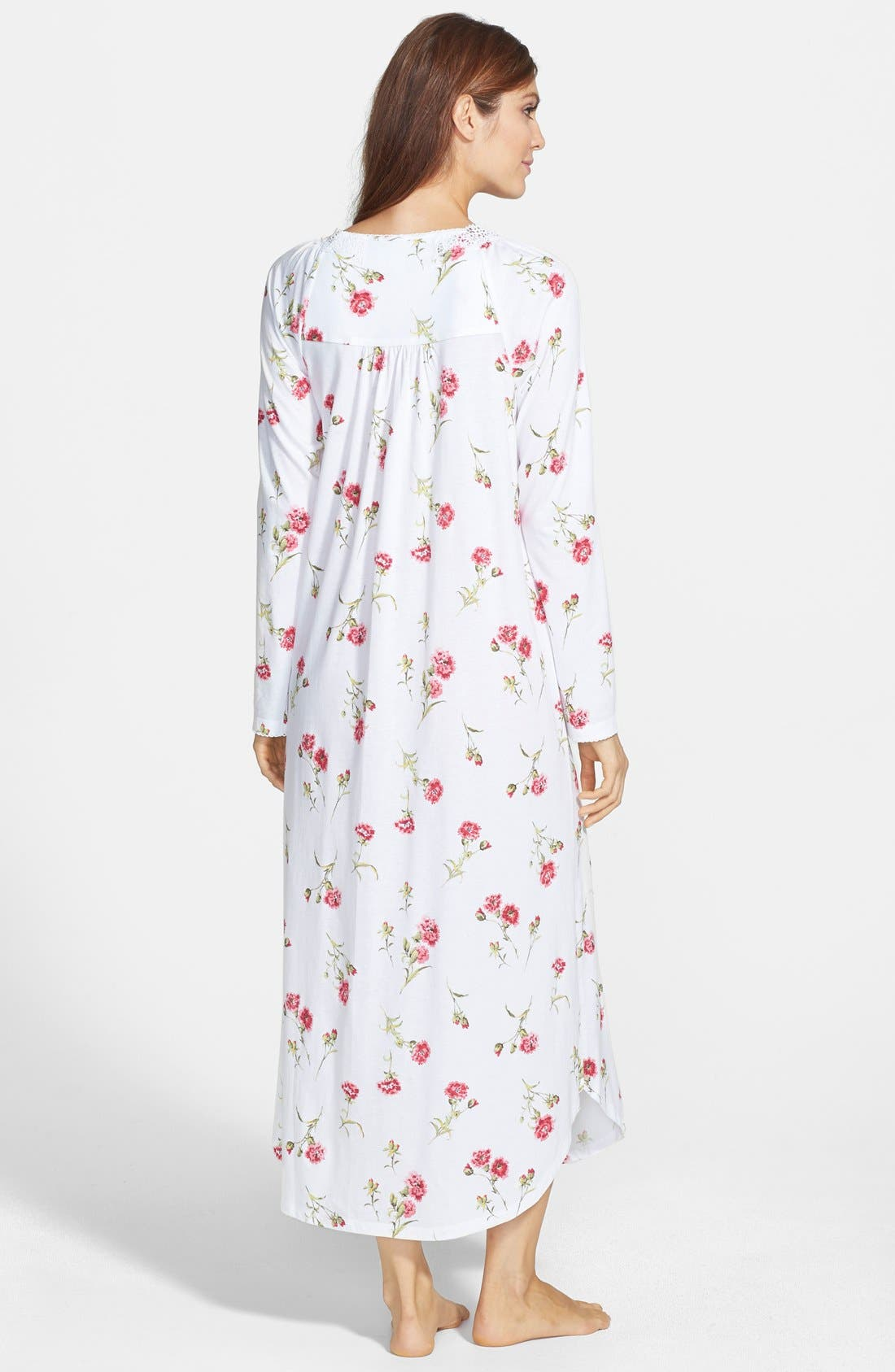 Alternate Image 2  - Carole Hochman Designs 'Forever Carnation' Long Nightgown