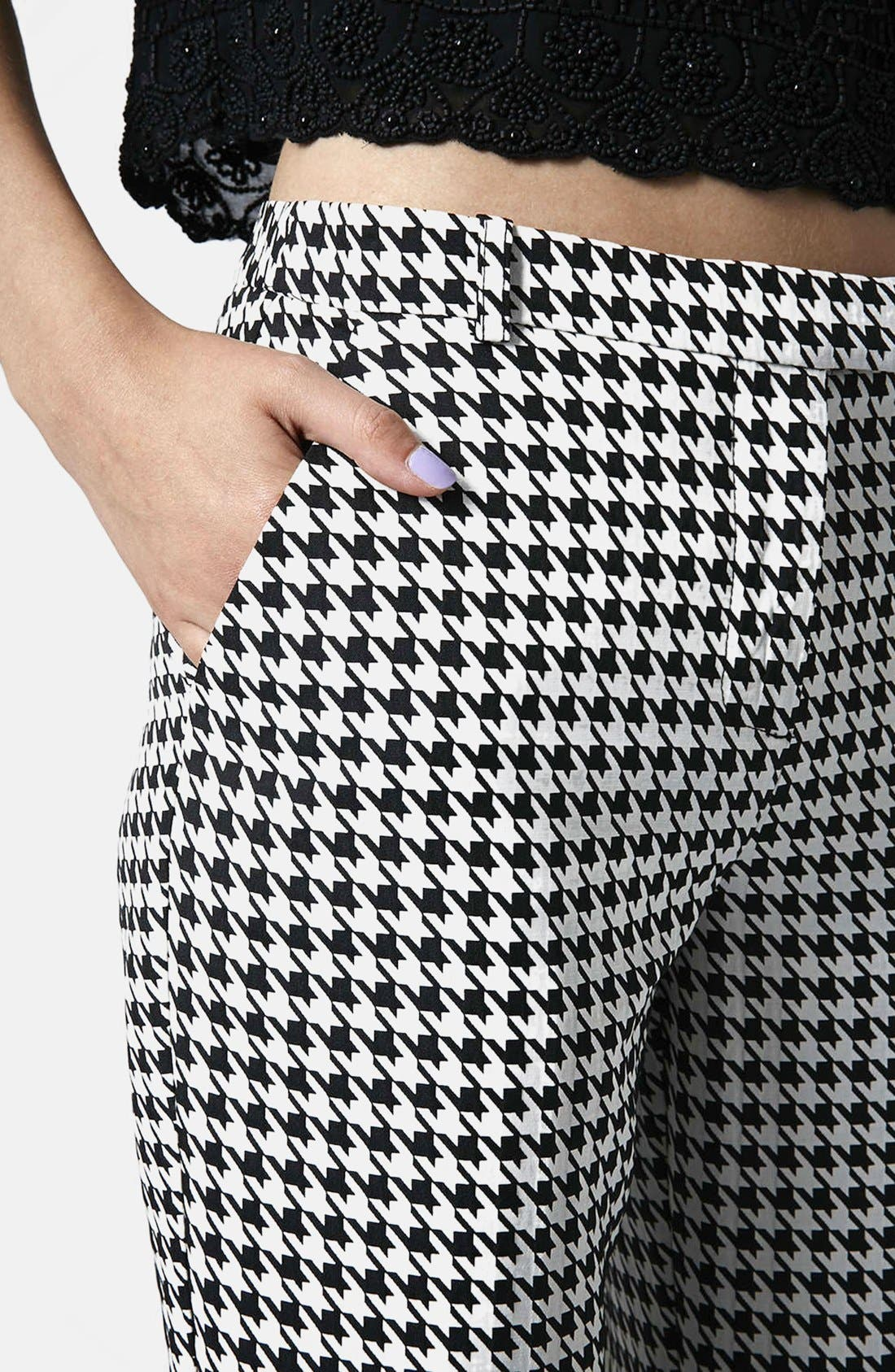 Alternate Image 4  - Topshop Houndstooth Cigarette Trousers