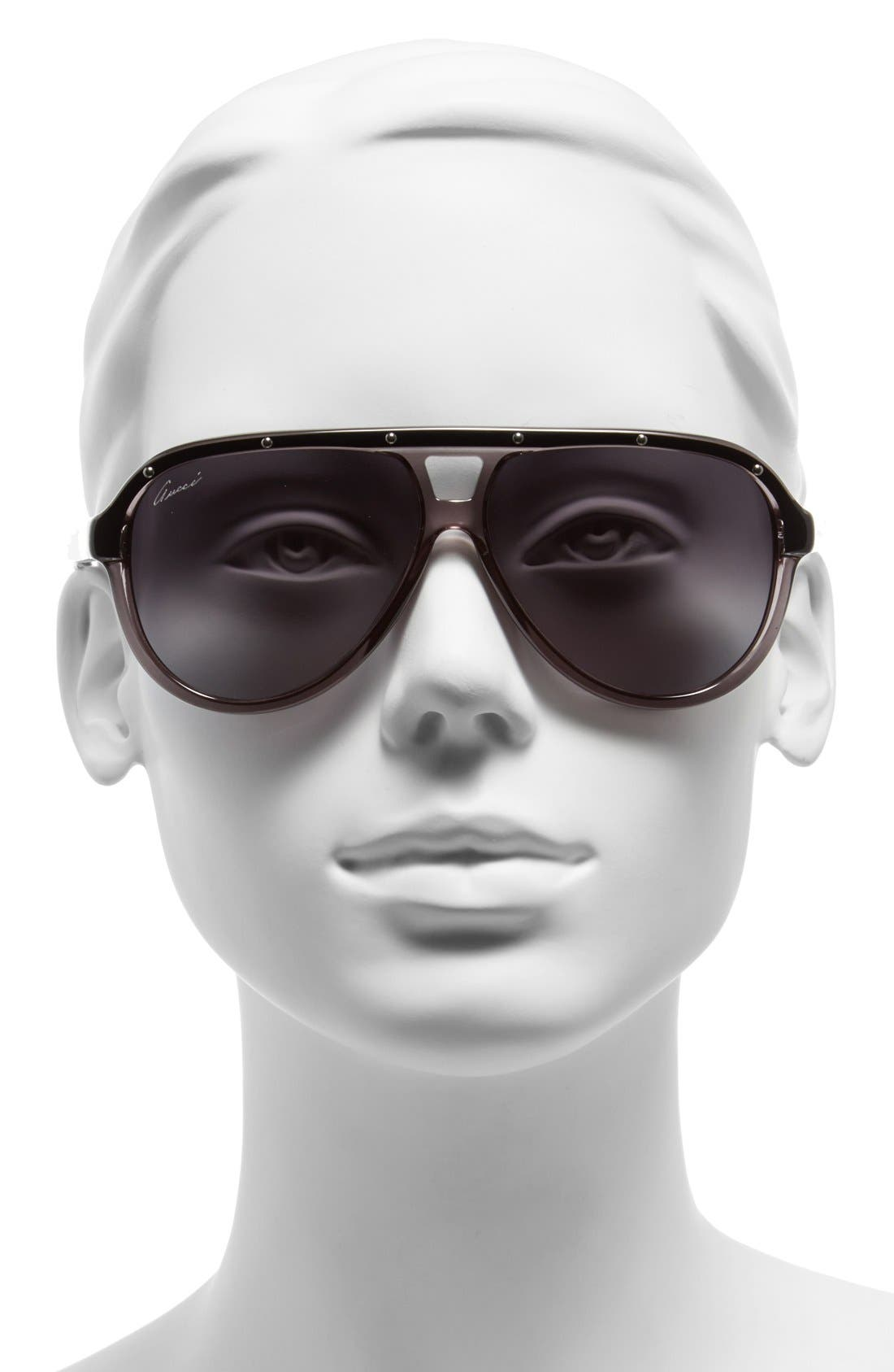 Alternate Image 2  - Gucci 59mm Aviator Sunglasses