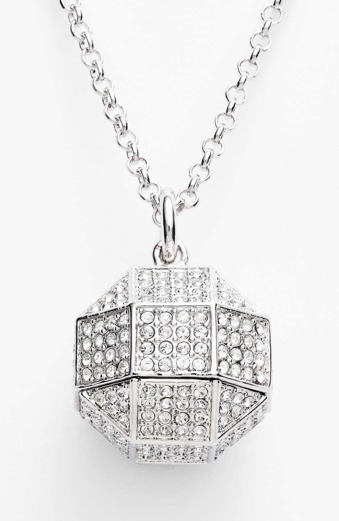 Alternate Image 2  - Louise et Cie 'Pavé Octagon' Pendant Necklace