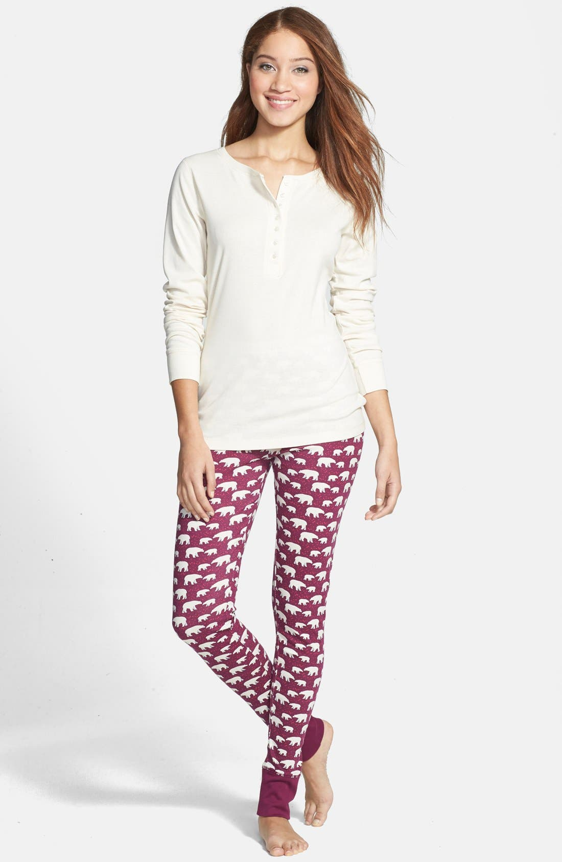 Alternate Image 1 Selected - Jane & Bleecker New York Print Legging Pajamas