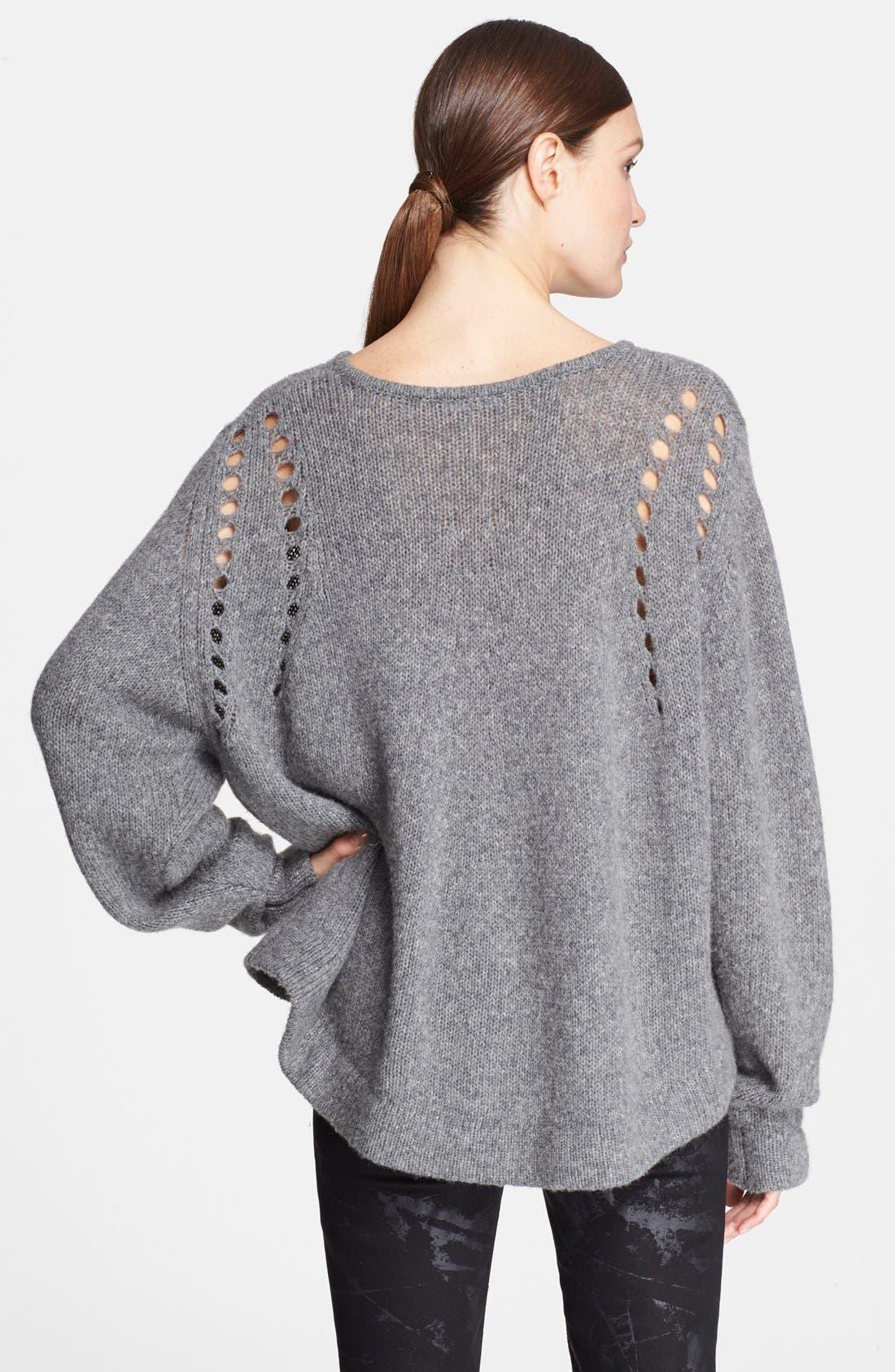 Alternate Image 2  - Helmut Lang Oversize Wool Blend Sweater