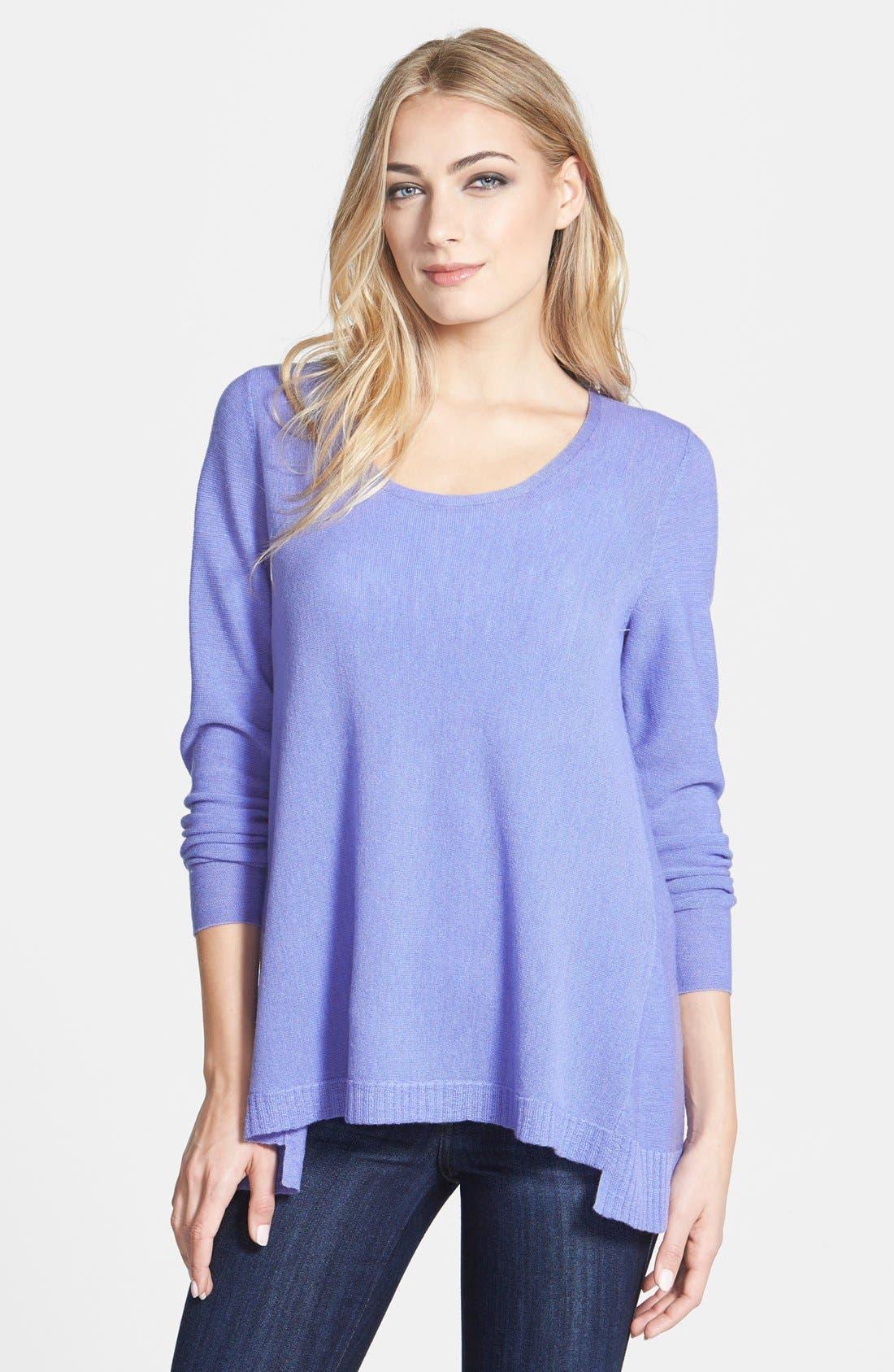 Main Image - Eileen Fisher Scoop Neck Merino Sweater (Regular & Petite)