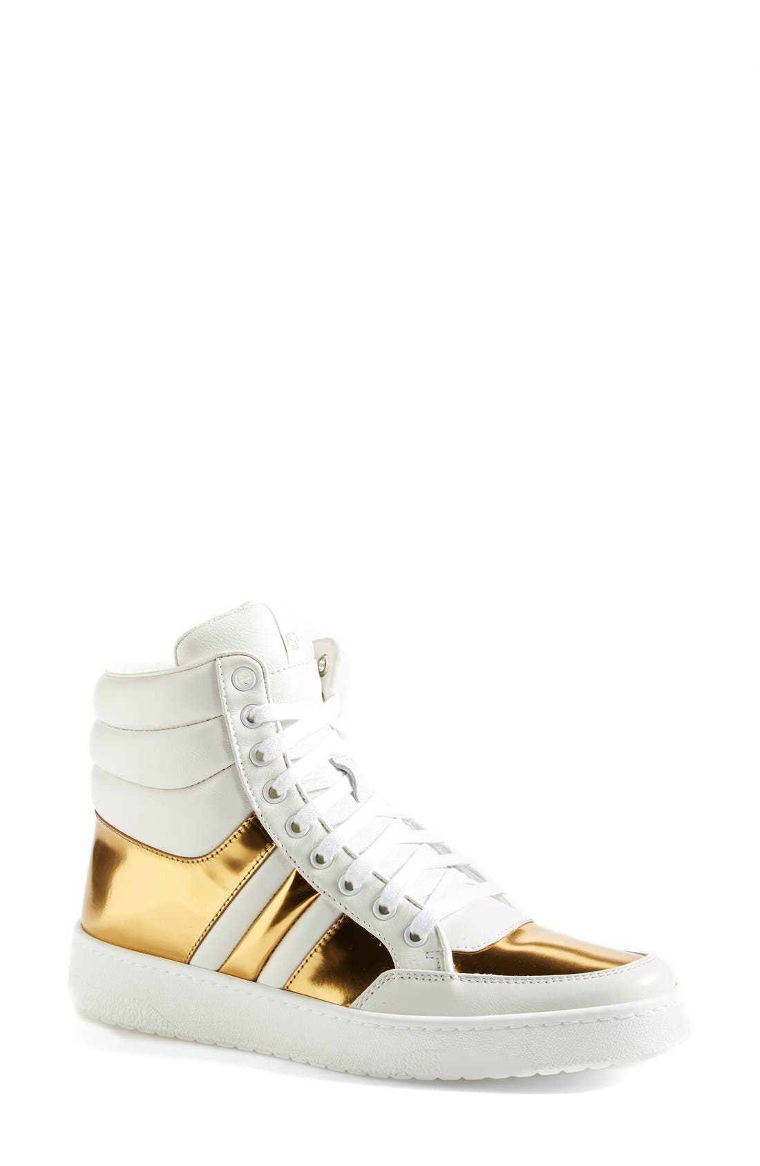 Alternate Image 1 Selected - Gucci 'Ronnie' High Top Sneaker (Women)