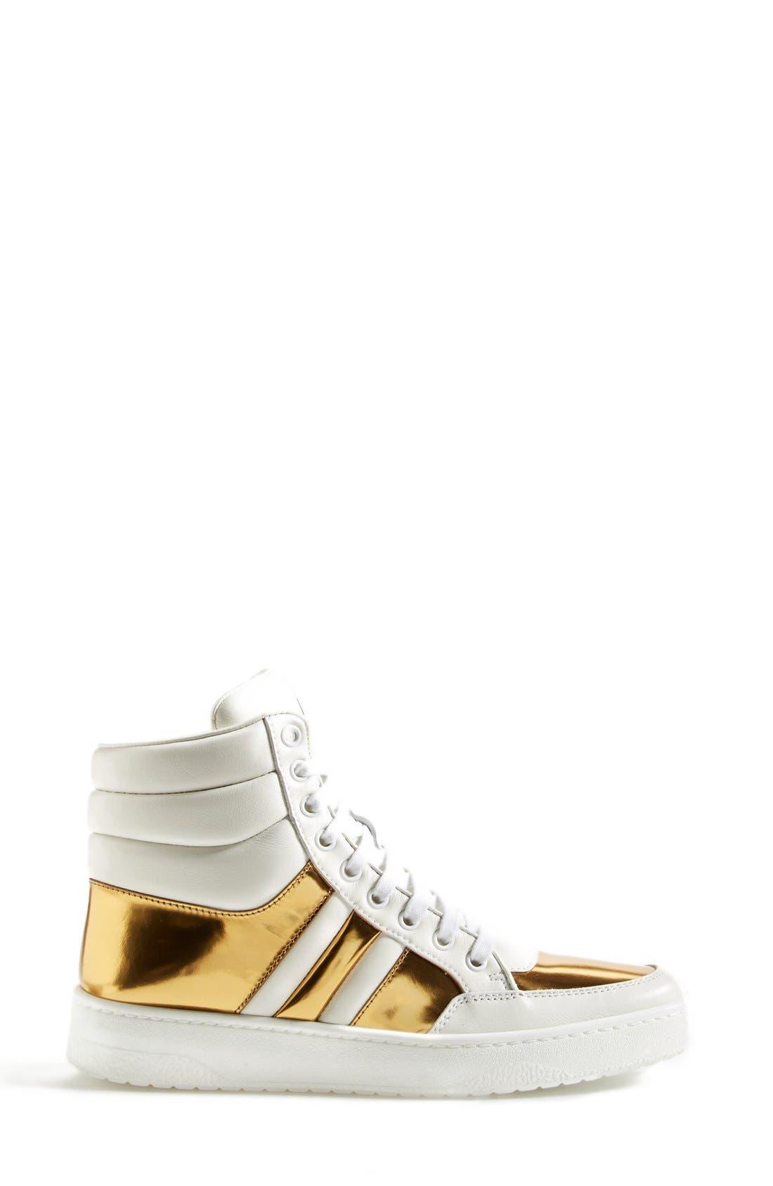 Alternate Image 4  - Gucci 'Ronnie' High Top Sneaker (Women)