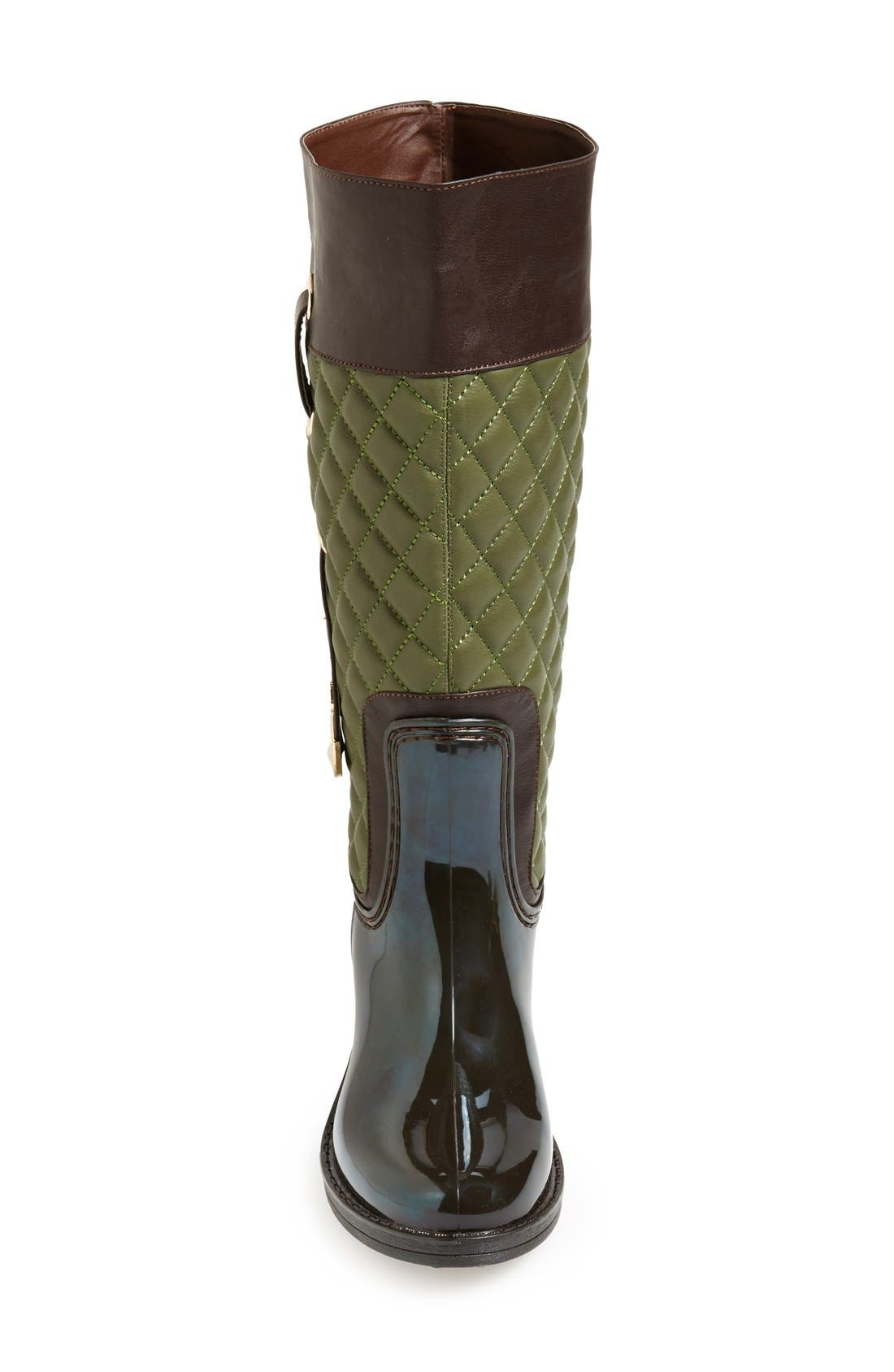 Alternate Image 3  - Posh Wellies 'Quizz' Quilted Tall Rain Boot (Women)