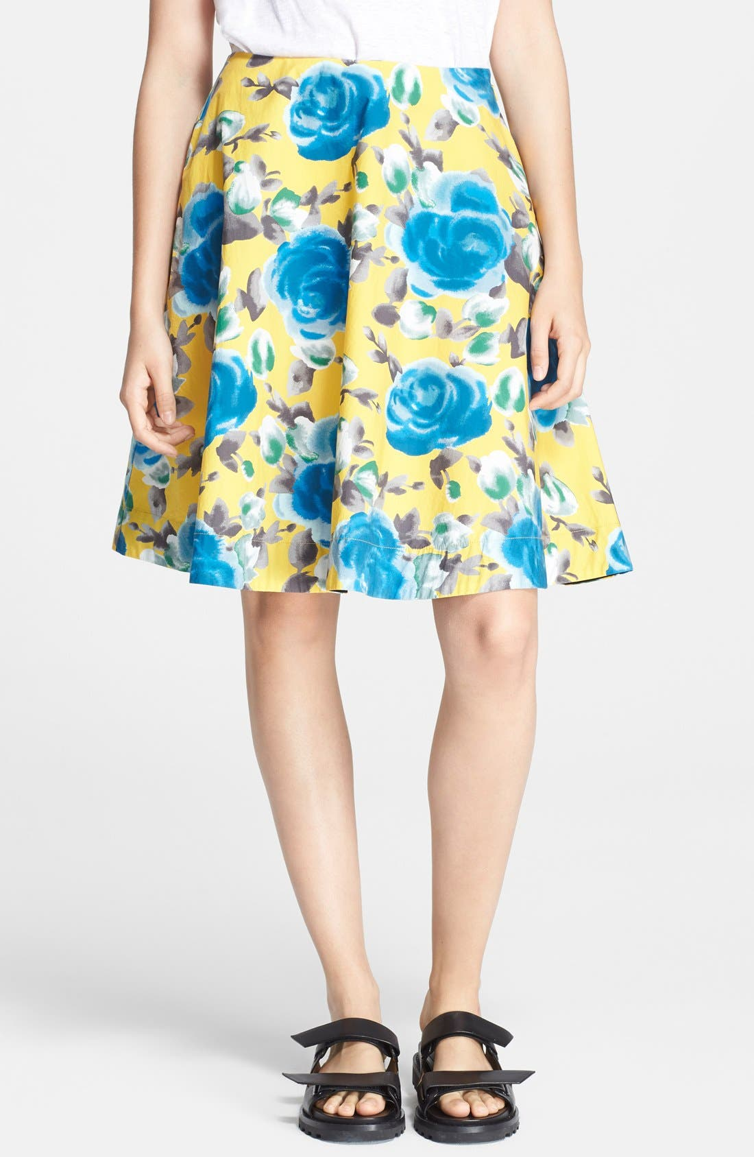 Main Image - MARC BY MARC JACOBS Floral Print Circle Skirt