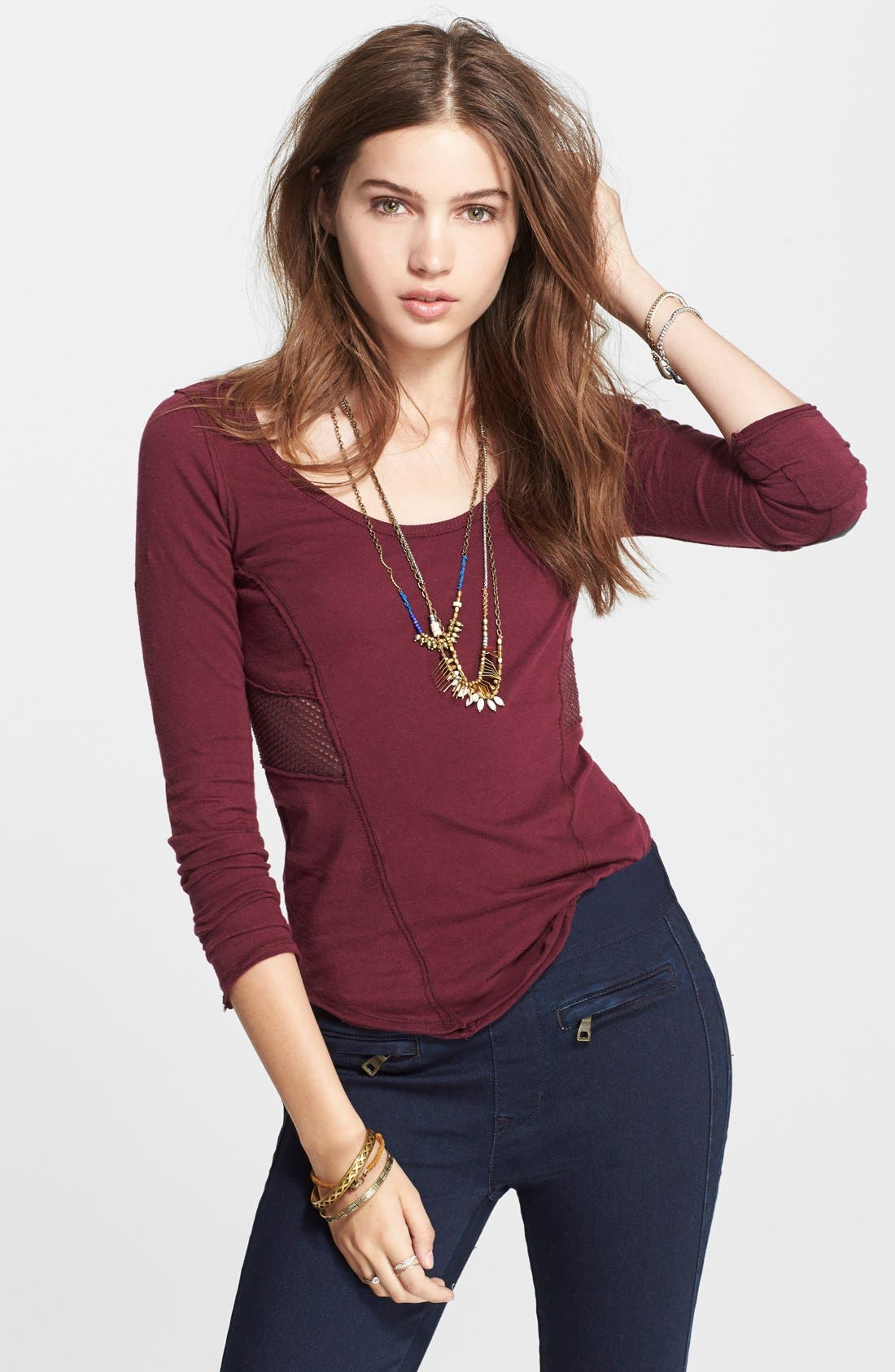 Alternate Image 1 Selected - Free People 'Jane' Long Sleeve Tee