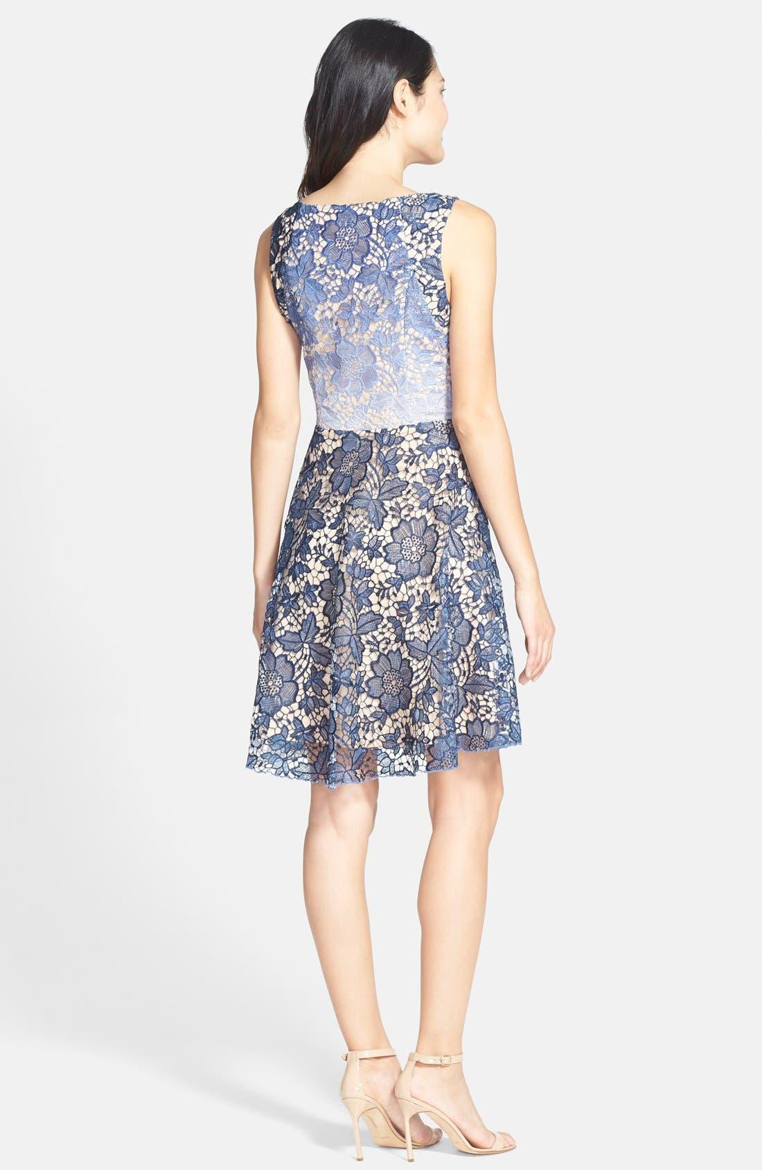 Alternate Image 2  - Eva Franco 'Futura' Ombré Lace Fit & Flare Dress