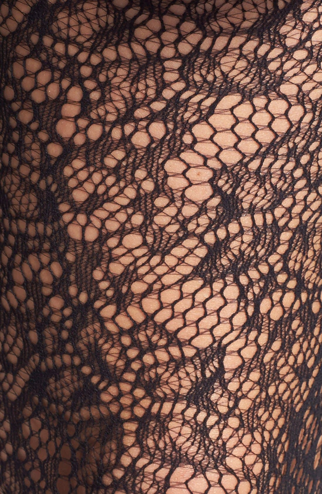 Alternate Image 2  - DKNY Jacquard Lace Tights