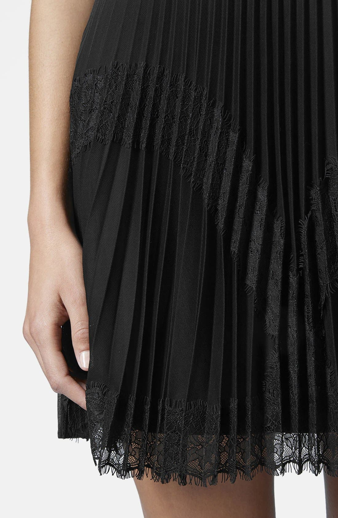 Alternate Image 4  - Topshop Pleat Eyelash Skirt