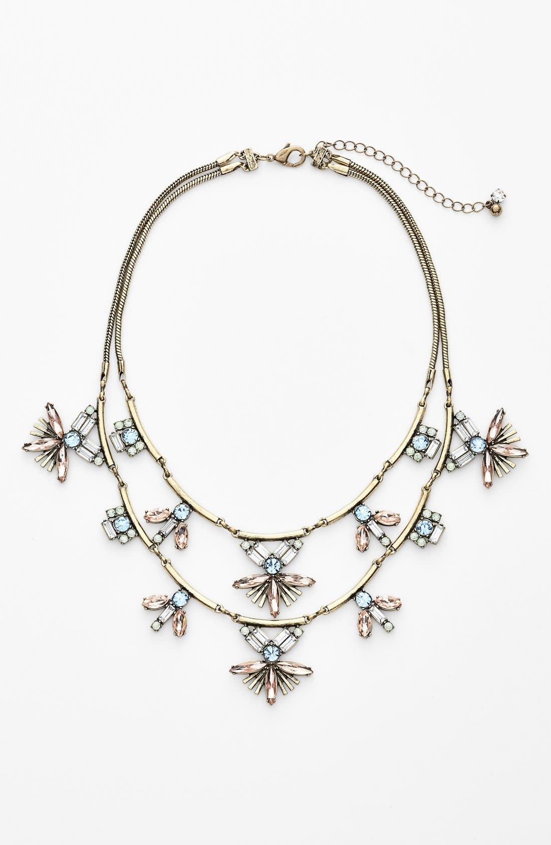 Main Image - Robert Rose Stone Cluster Tiered Statement Necklace