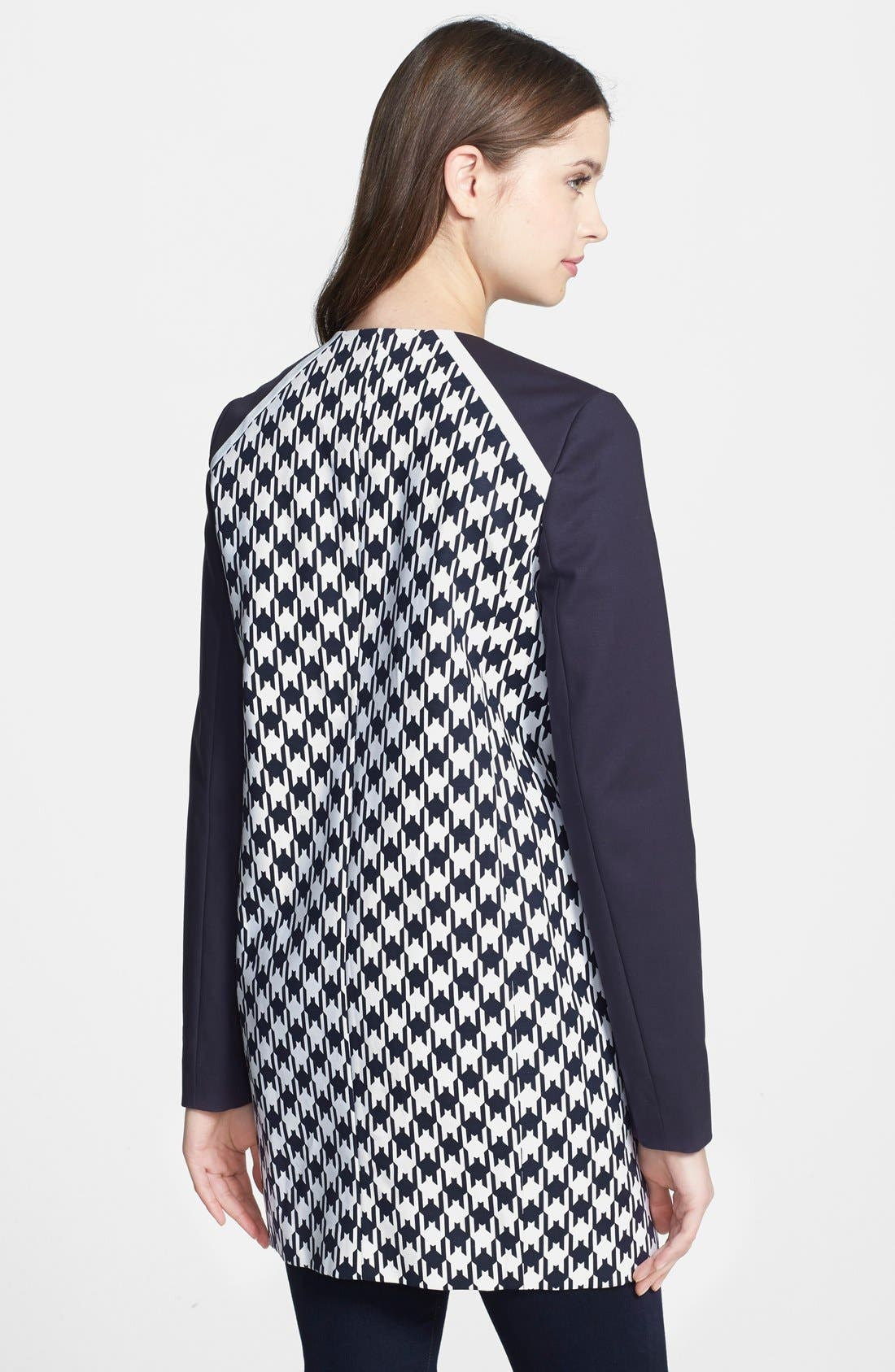 Alternate Image 2  - MICHAEL Michael Kors Print Block Car Coat