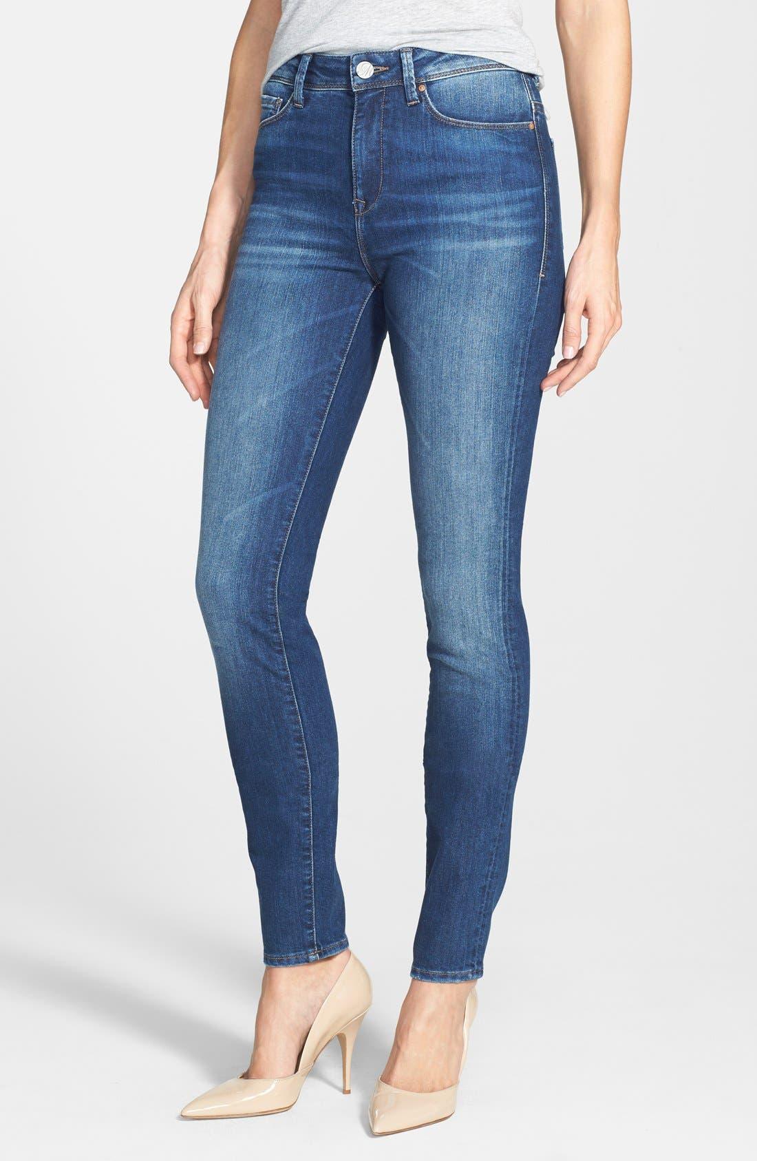 Alternate Image 1 Selected - Mavi Jeans 'Alissa' Skinny Jeans (Medium Blue)