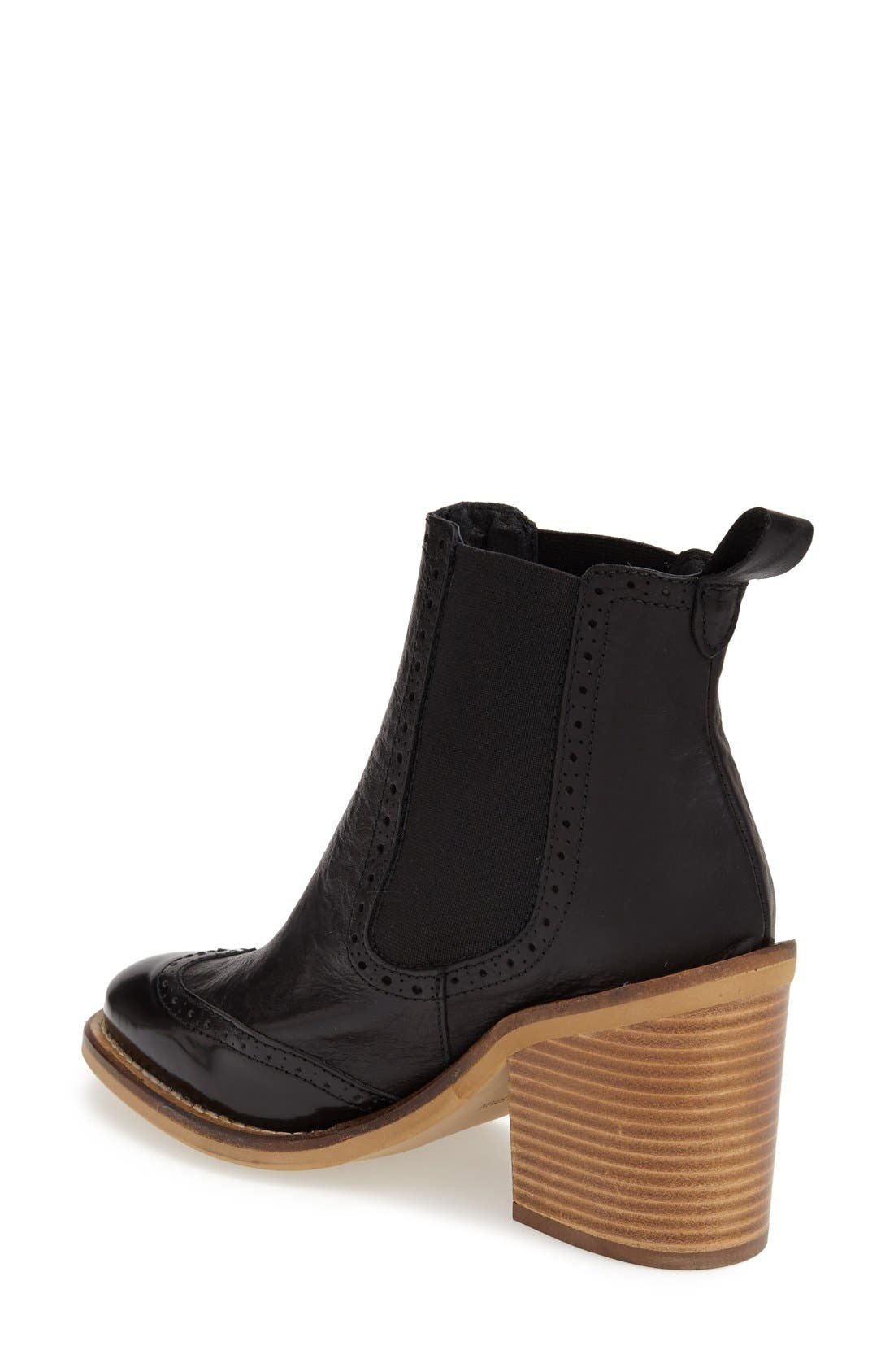 Alternate Image 2  - Topshop 'Maine Brogue' Chelsea Ankle Bootie (Women)