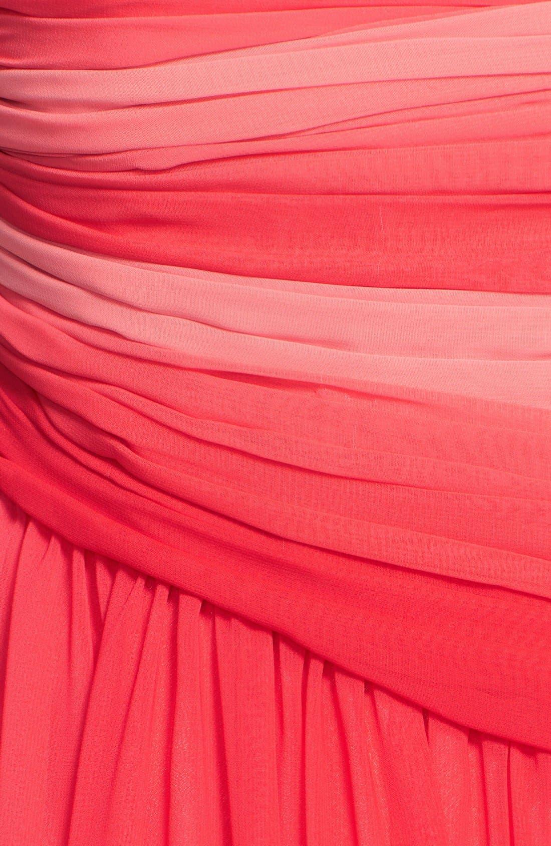 Alternate Image 3  - ML Monique Lhuillier Bridesmaids Ombré Chiffon Gown