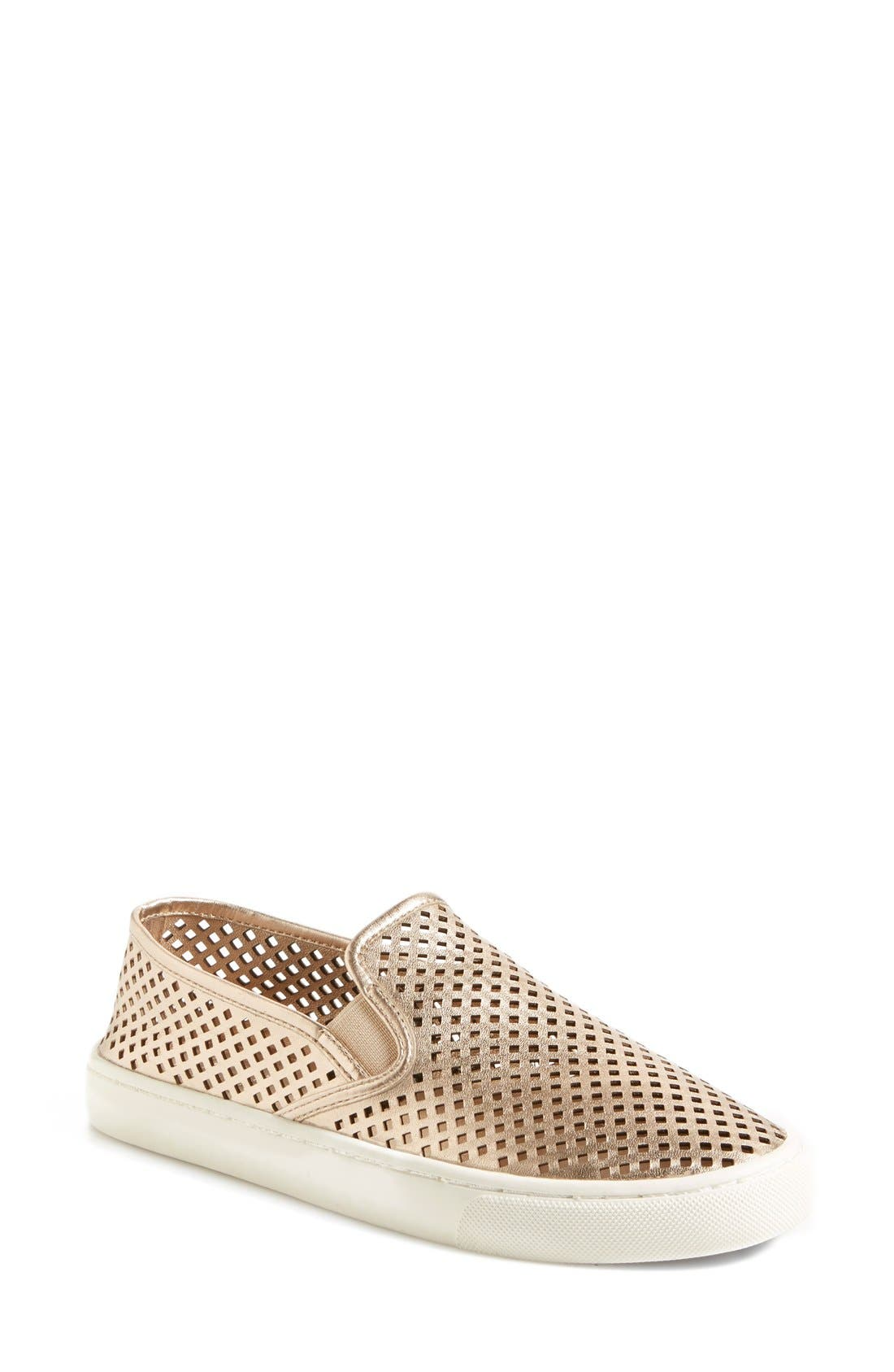 Main Image - Tory Burch 'Jesse' Perforated Sneaker (Women)