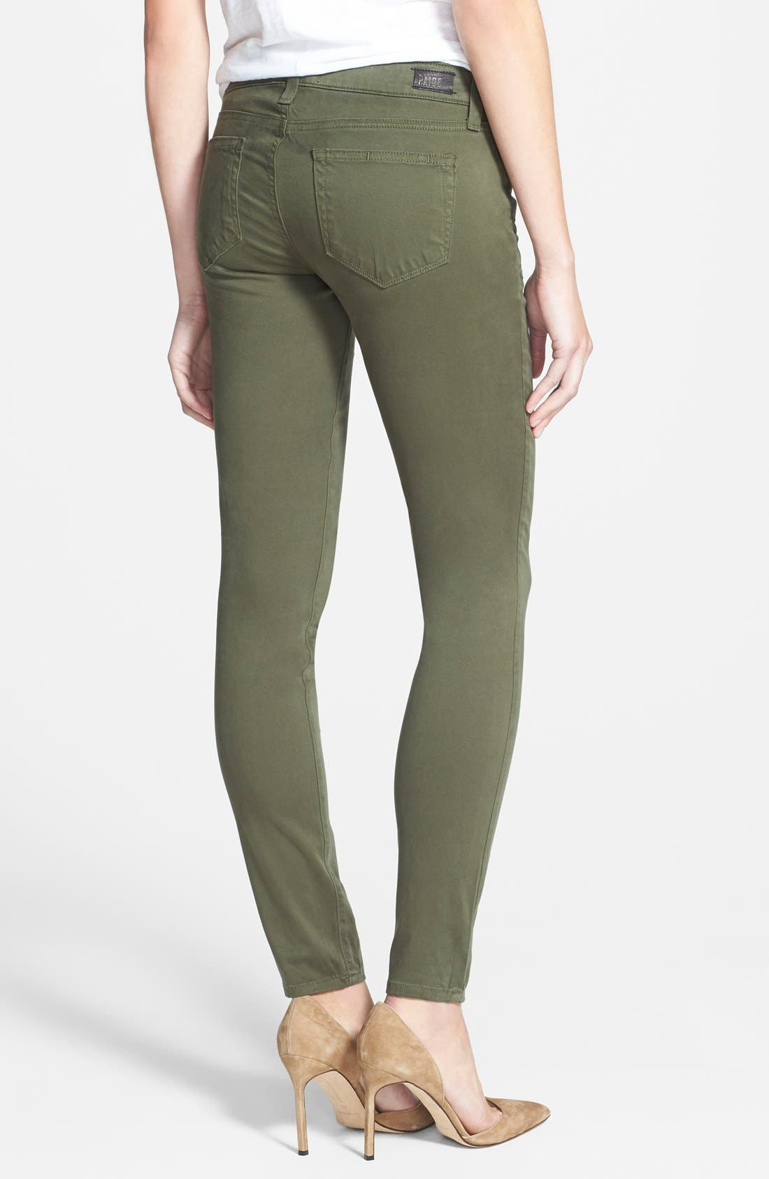 Alternate Image 2  - Paige Denim 'Edgemont' Ultra Skinny Jeans (Pine Green)
