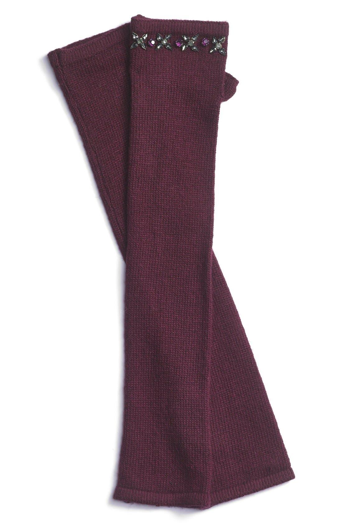 Alternate Image 1 Selected - Lauren Ralph Lauren Jeweled Fingerless Arm Warmer Gloves