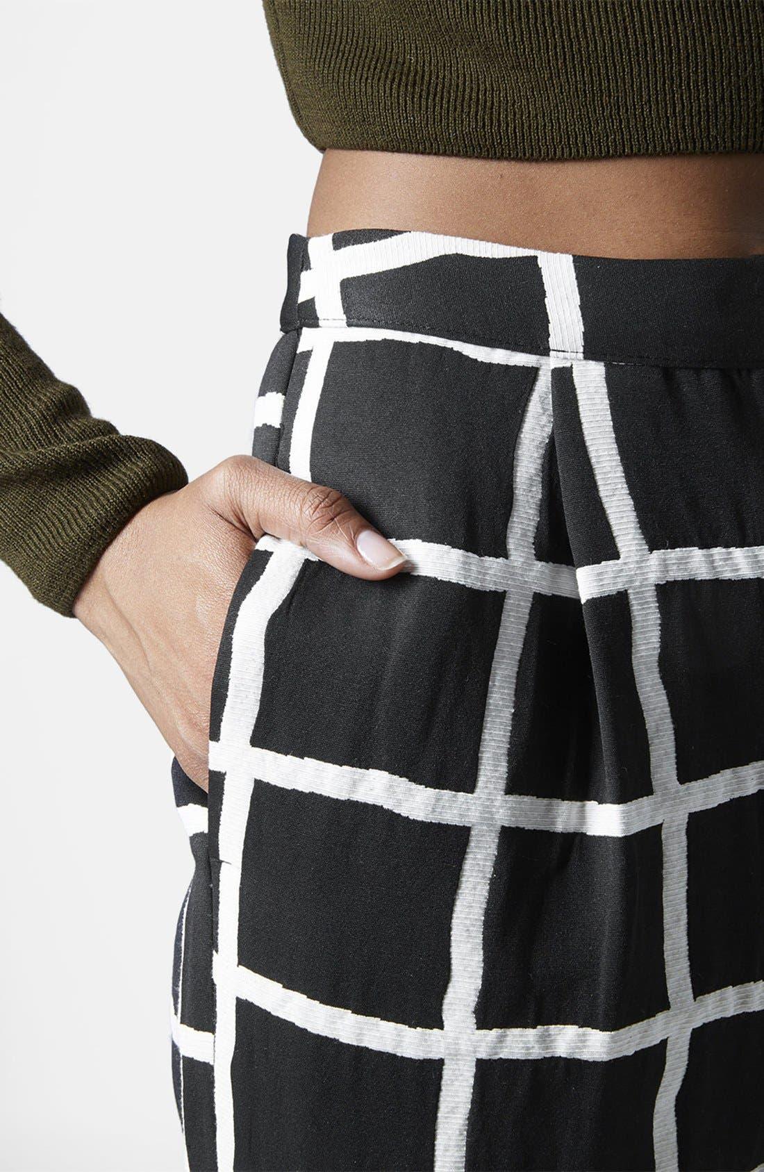 Alternate Image 4  - Topshop Windowpane Peg Trousers