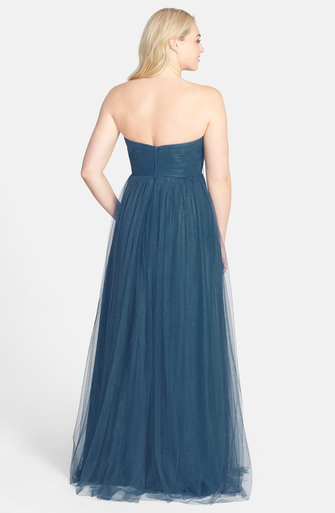 Alternate Image 3  - Jenny Yoo 'Annabelle' Convertible Tulle Column Dress