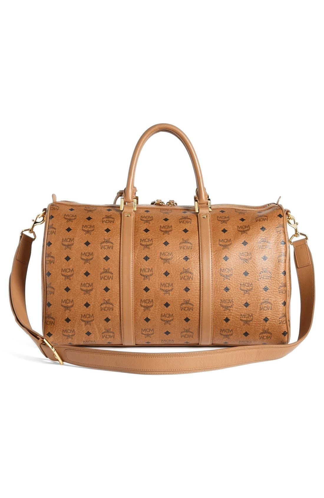 Alternate Image 4  - MCM 'Large Heritage' Coated Canvas Weekend Duffel Bag