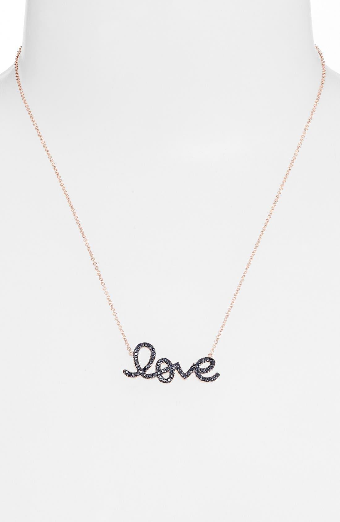 Alternate Image 2  - Sugar Bean Jewelry 'Love' Pendant Necklace