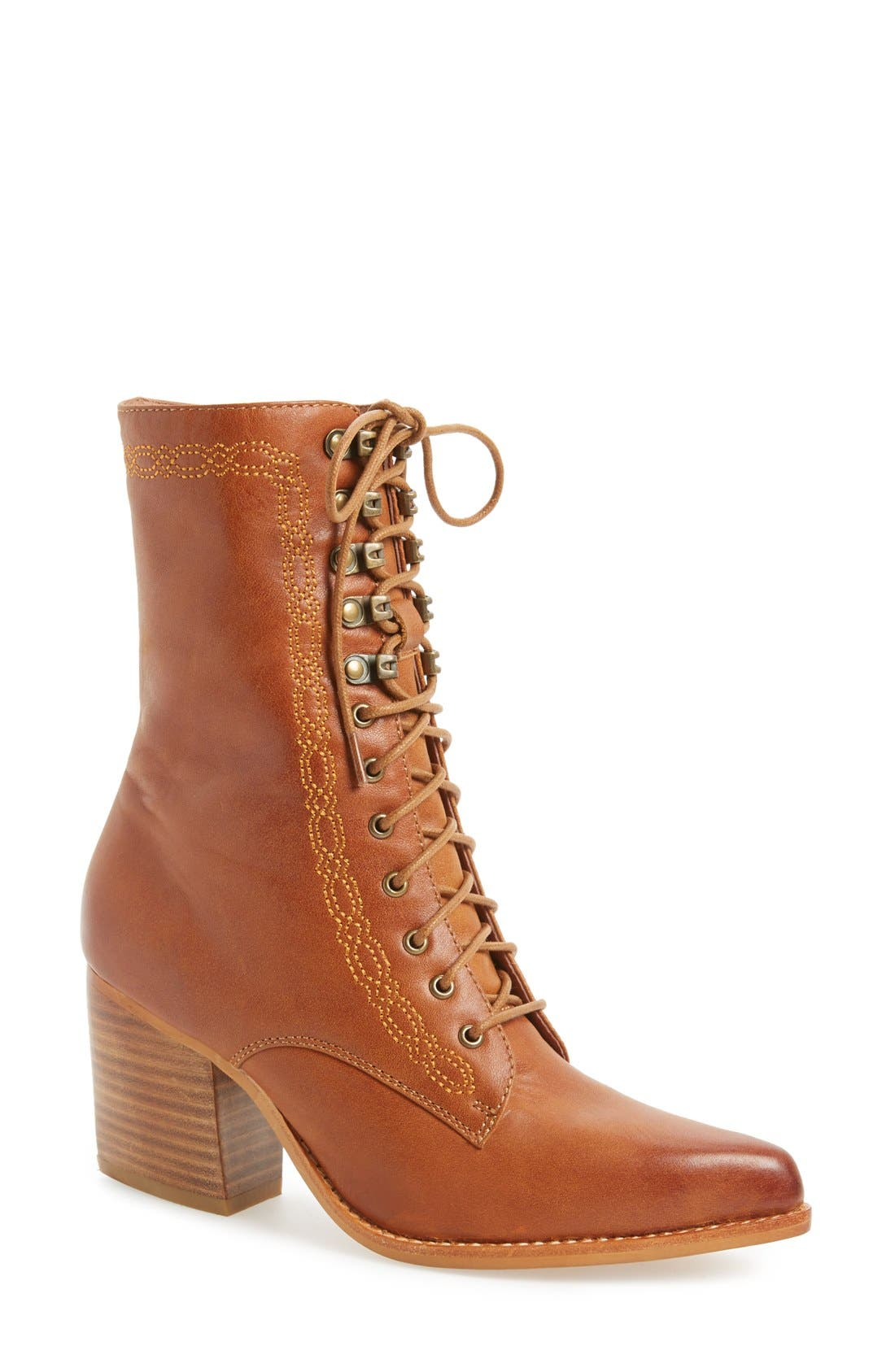 Alternate Image 1 Selected - Jeffrey Campbell 'Boothe' Leather Boot (Women)