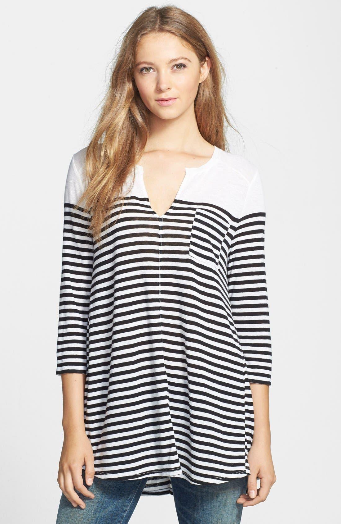 Alternate Image 1 Selected - Lucky Brand Stripe Pocket Tunic