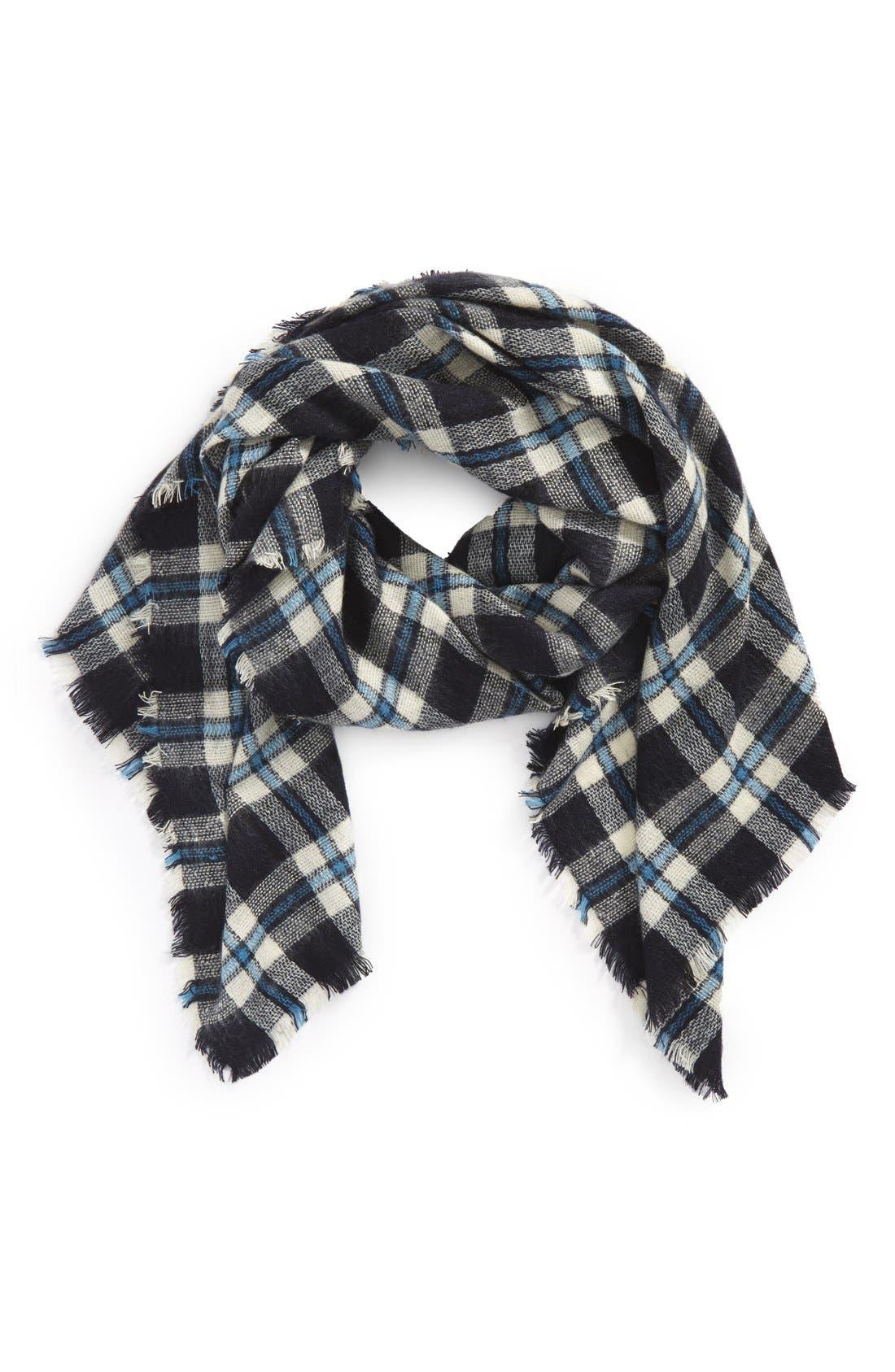 Main Image - kate spade new york plaid blanket scarf