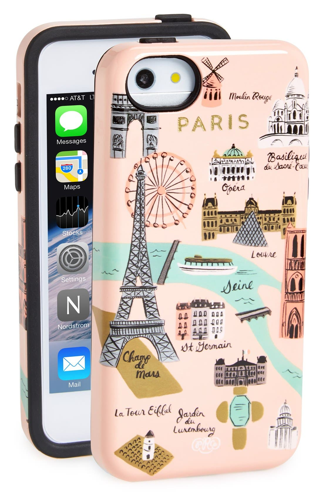 Alternate Image 1 Selected - Rifle Paper Co. 'Paris Map' iPhone 5 & 5s Case