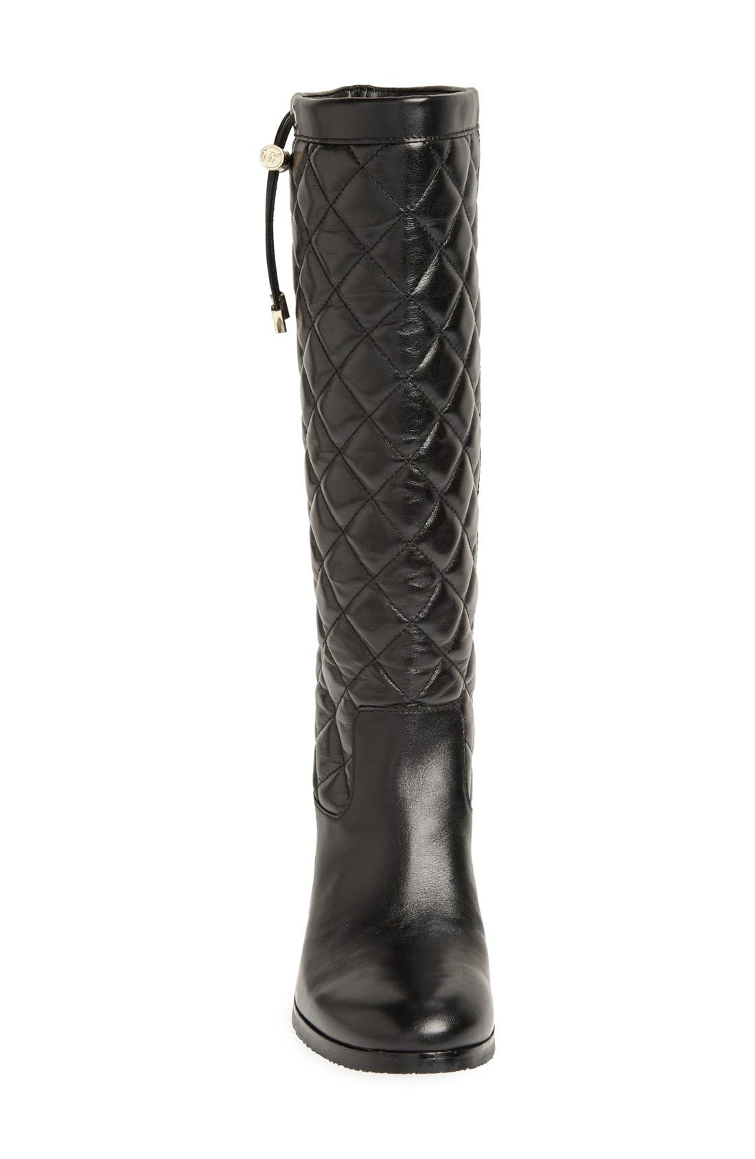 Alternate Image 3  - MICHAEL Michael Kors 'Lizzie' Quilted Leather Knee High Boot (Women)