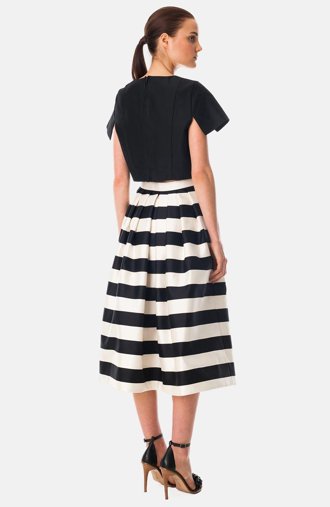 Alternate Image 2  - Tibi 'Escalante' Stripe Print Pleated Silk Midi Skirt