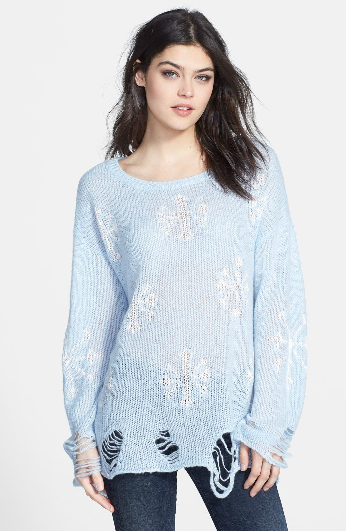 Main Image - Wildfox 'Lennon' Snowflake Sweater