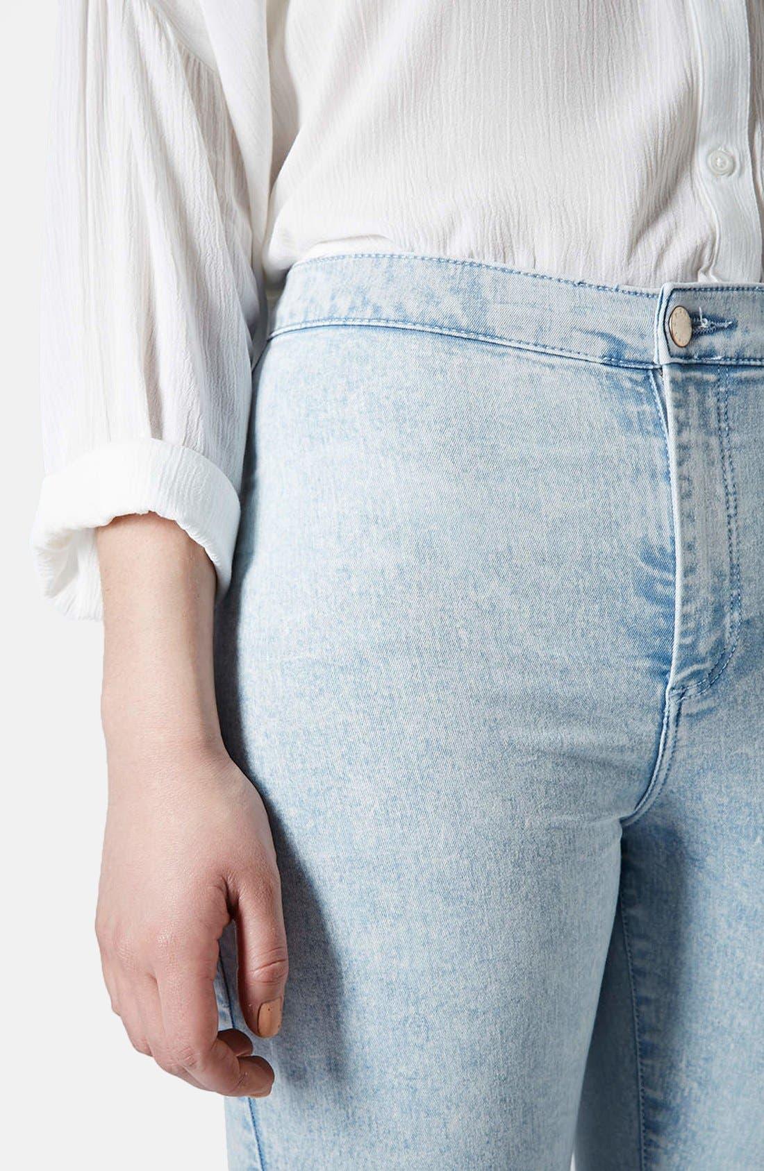 Alternate Image 4  - Topshop 'Joni' Mottled Ultra Skinny Jeans (Bleach Stone)