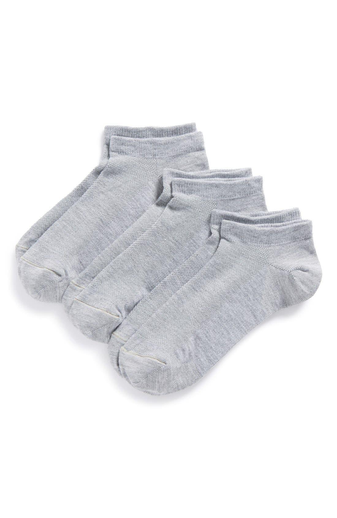 Alternate Image 1 Selected - Zella Fitness 3-Pack Liner Socks