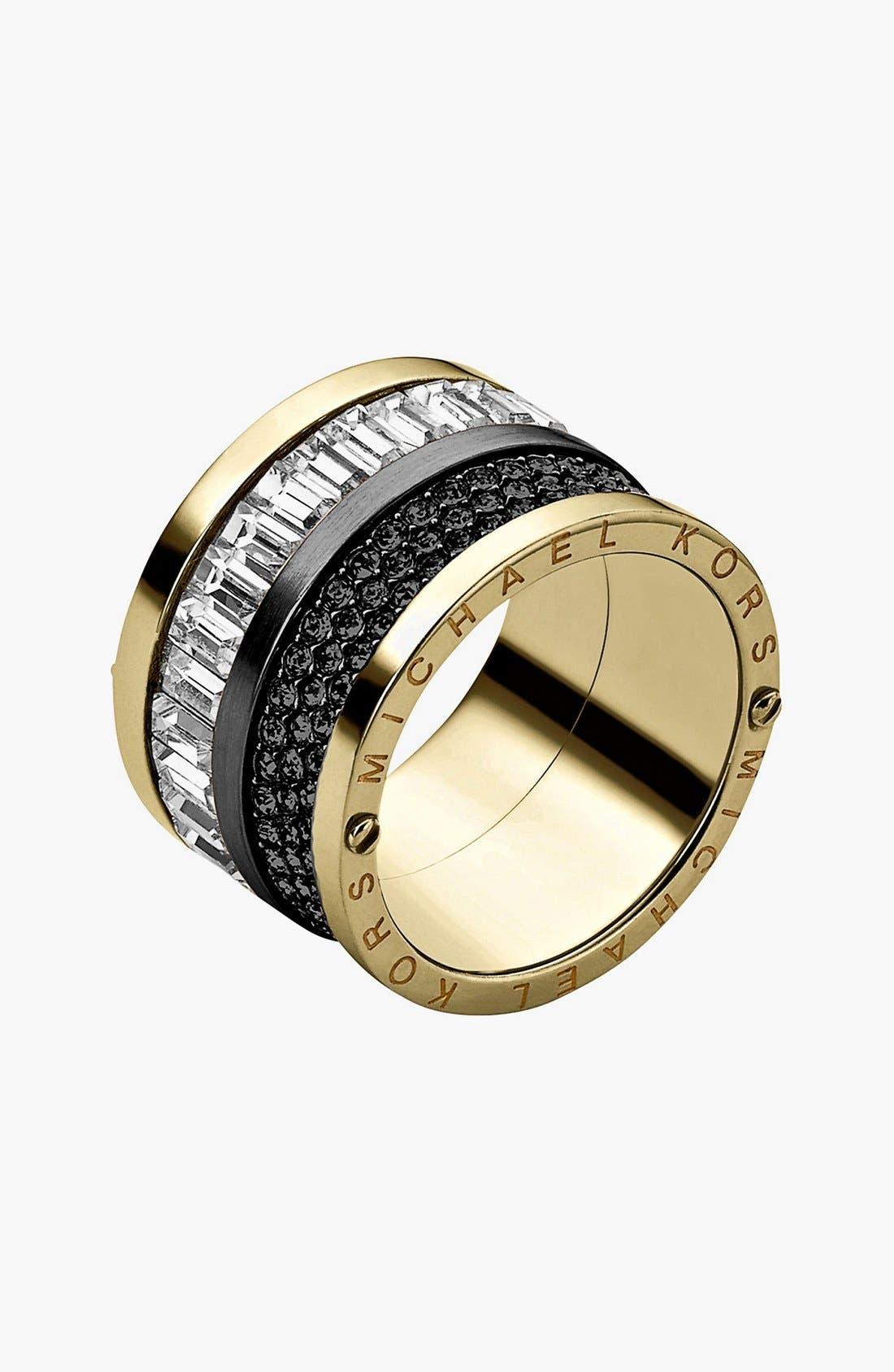 Alternate Image 1 Selected - Michael Kors Pavé Cigar Band Ring