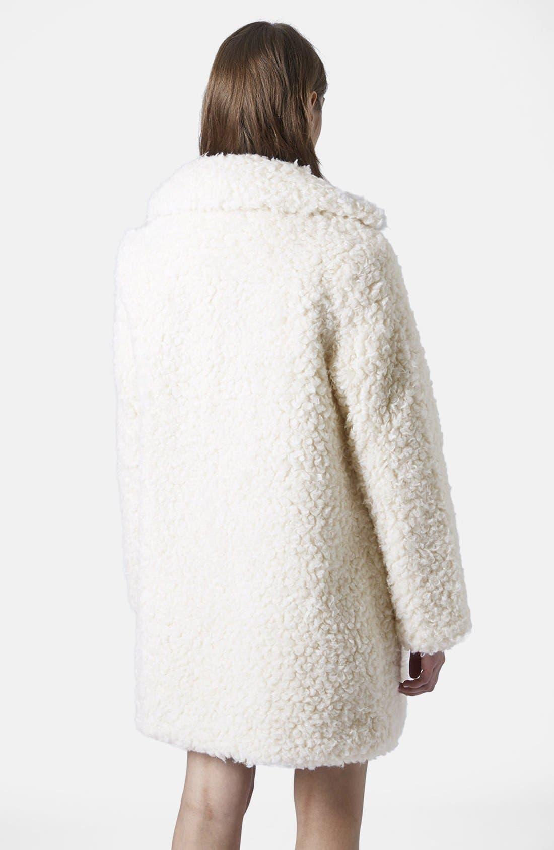 Alternate Image 3  - Topshop Faux Fur Car Coat