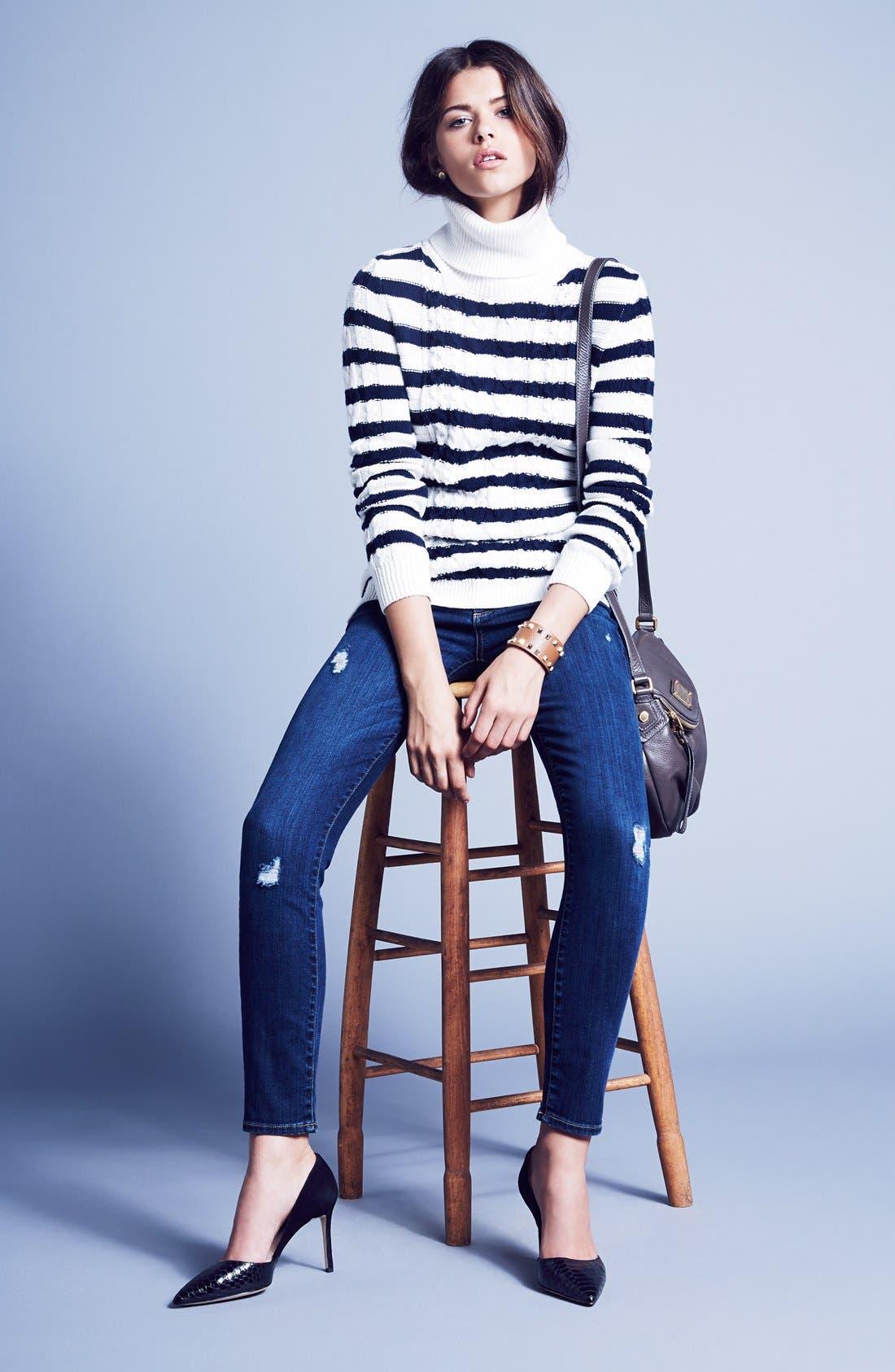 Alternate Image 4  - Paige Denim 'Skyline' Ankle Peg Skinny Jeans (Lyric Deconstructed)