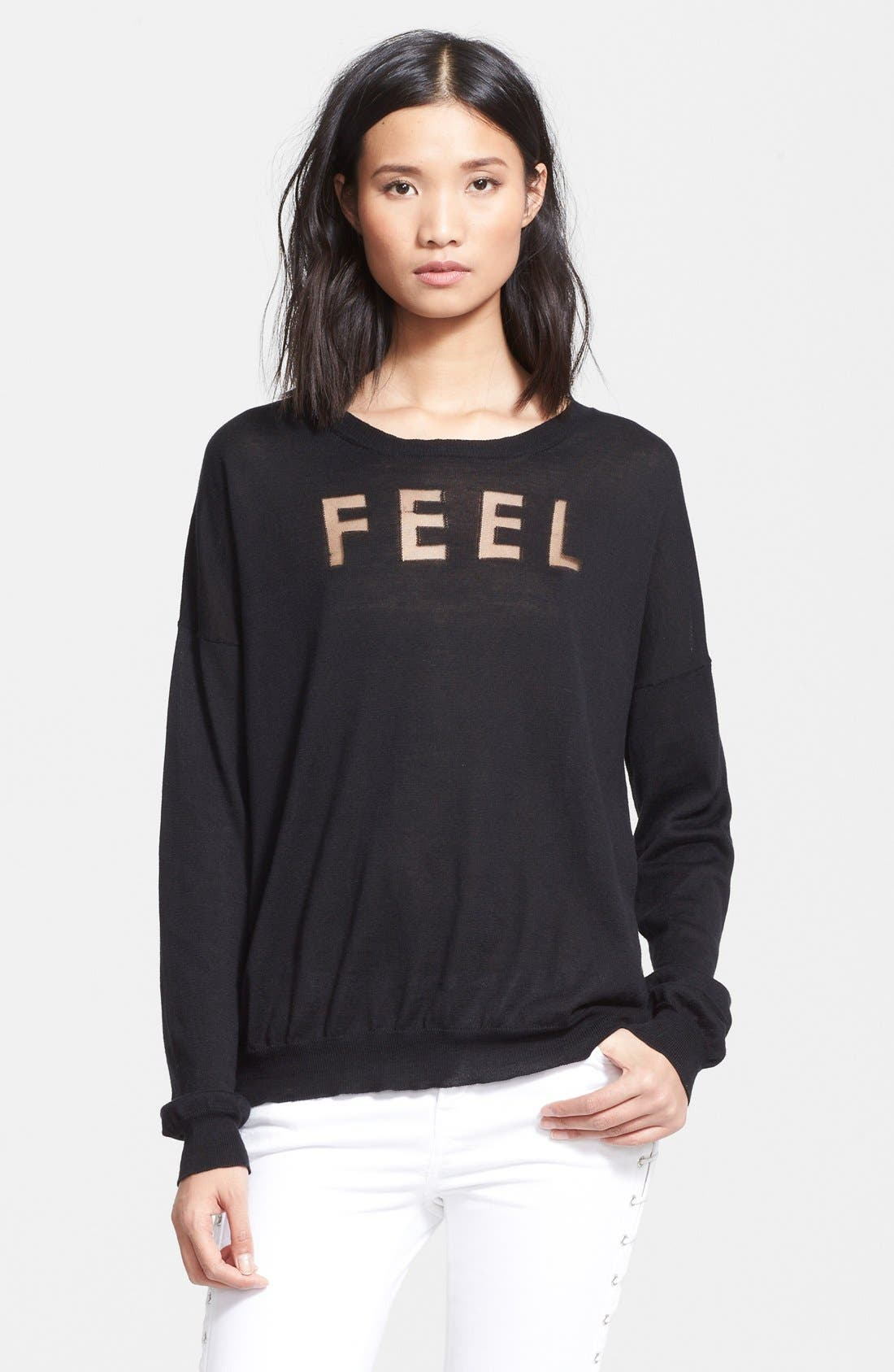 Alternate Image 1 Selected - EACH X OTHER 'Feel' Burnout Sweater