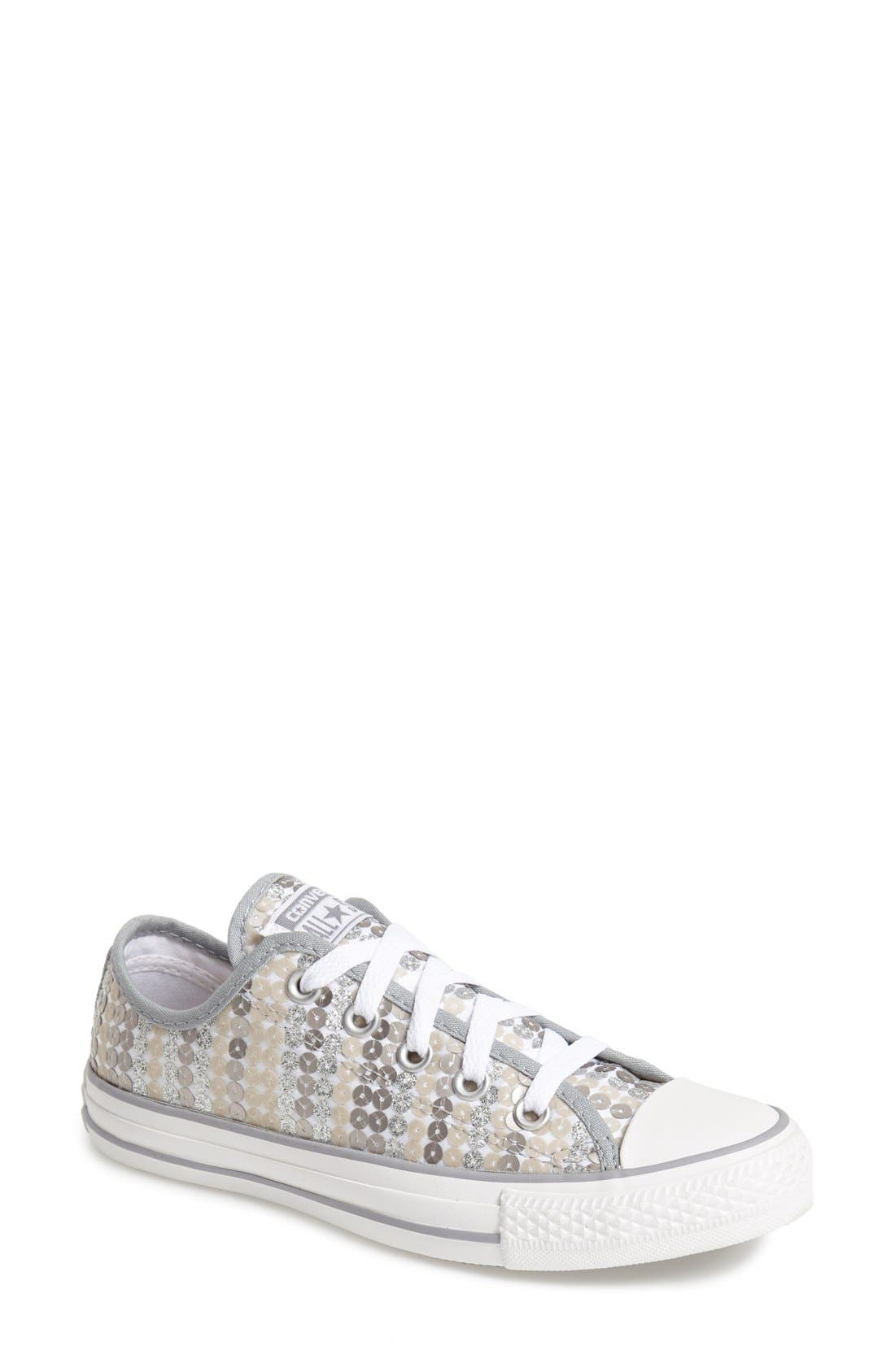 Alternate Image 1 Selected - Converse Chuck Taylor® All Star® 'Sequin Shine Ox' Low Top Sneaker (Women)