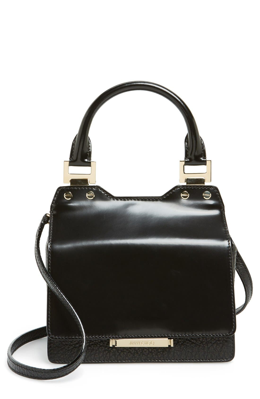 Alternate Image 1 Selected - Jimmy Choo 'Amie' Top Handle Leather Satchel