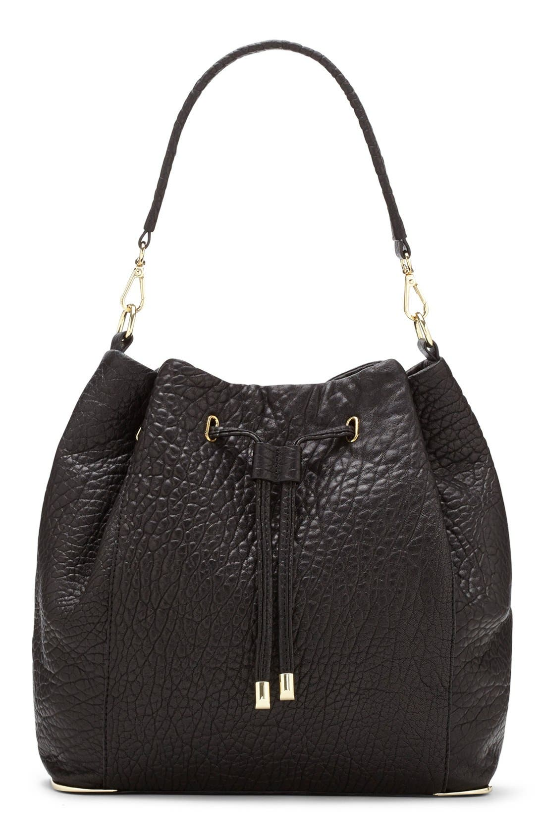 Alternate Image 1 Selected - Vince Camuto 'Knox' Drawstring Leather Bucket Bag