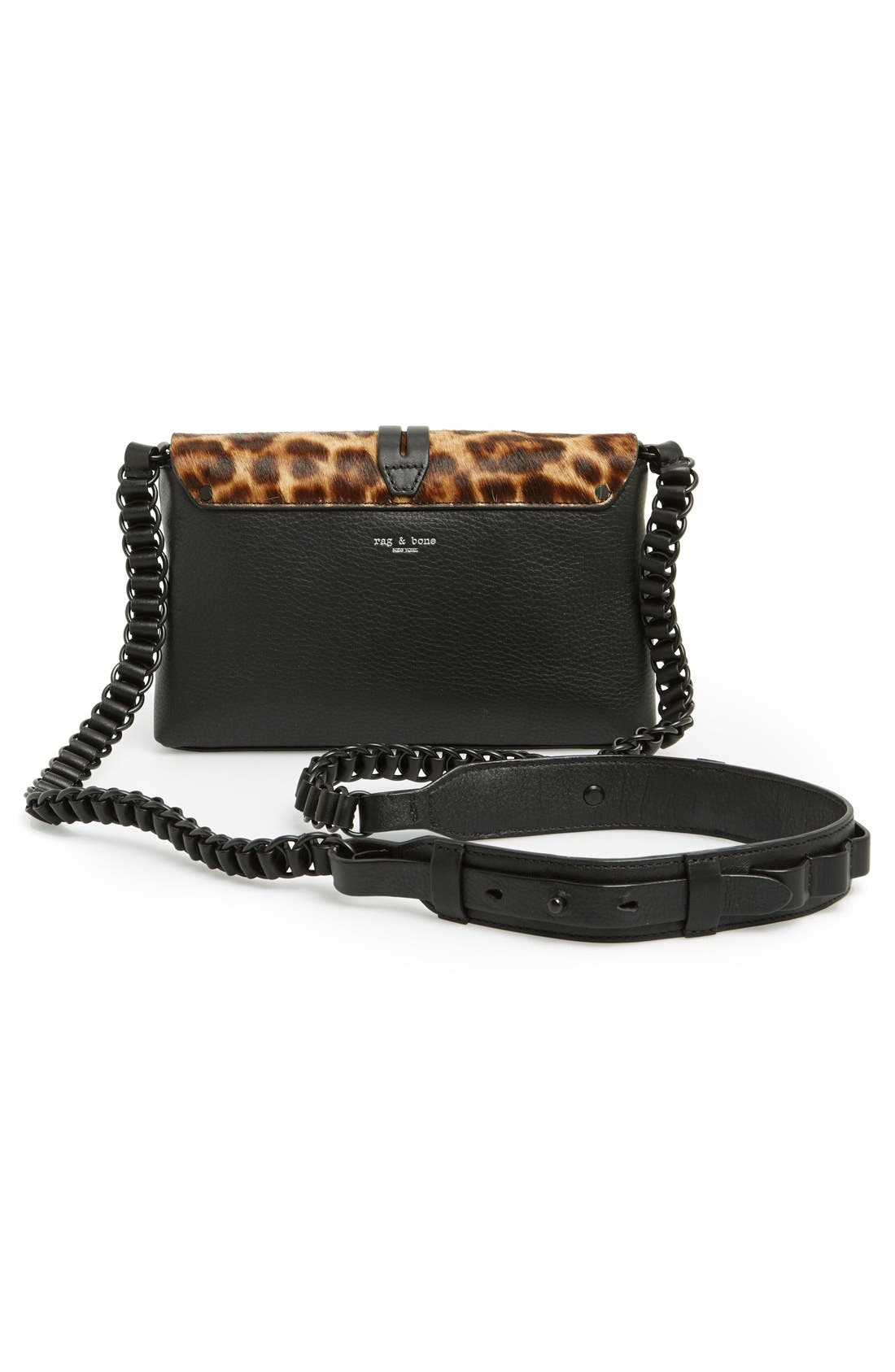 Alternate Image 4  - rag & bone 'Mini Enfield' Genuine Calf Hair & Leather Crossbody Bag