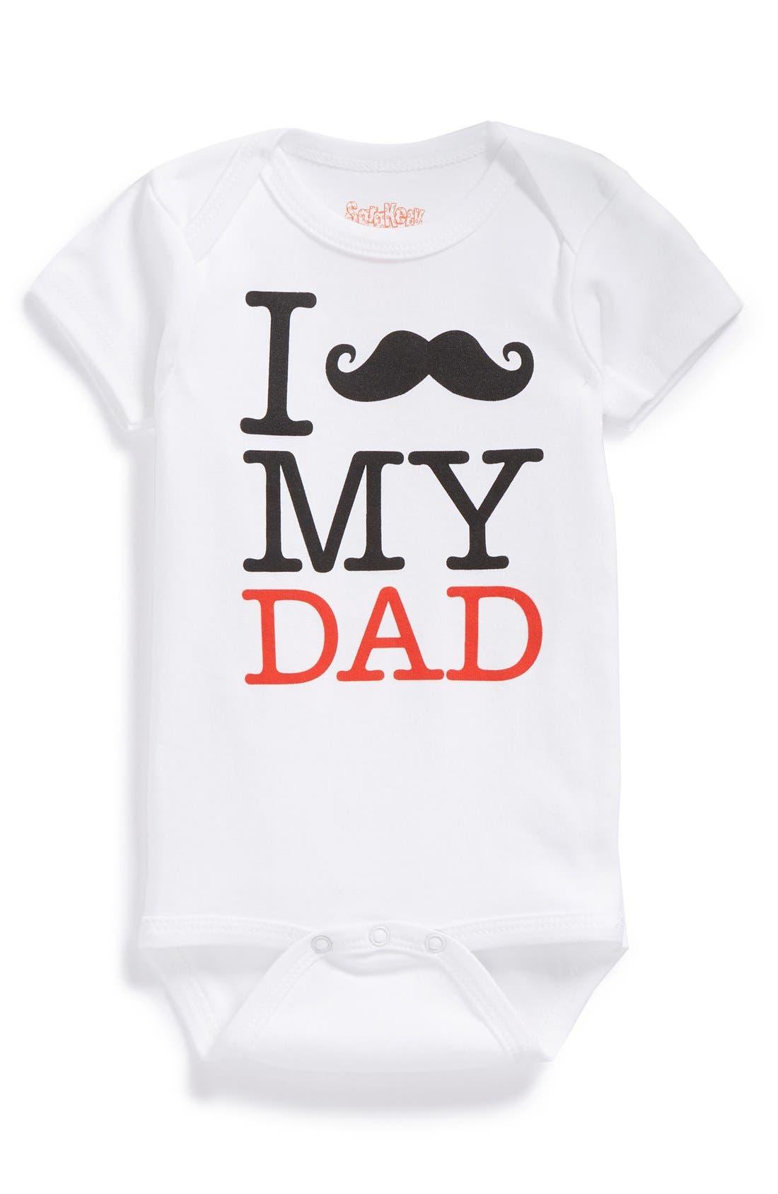 Sara Kety Baby & Kids 'Mustache My Dad' Bodysuit (Baby Boys)
