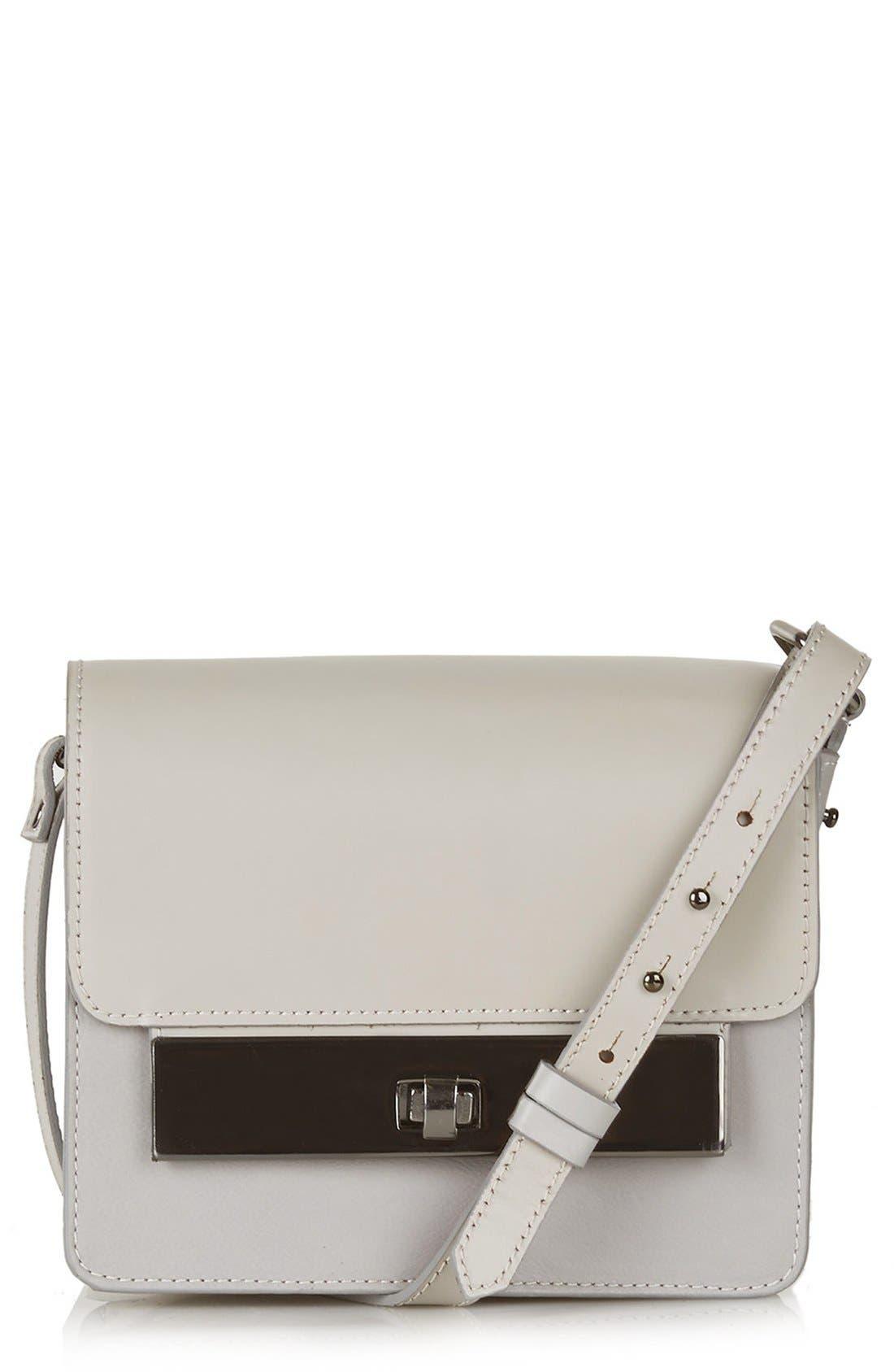Main Image - Topshop Premium Plate Shoulder Bag