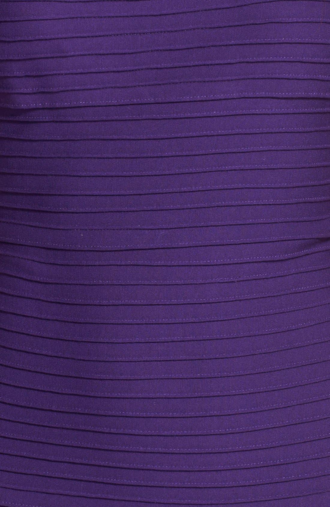 Alternate Image 4  - Tadashi Shoji Lace Trim Pintuck Jersey Fit & Flare Dress