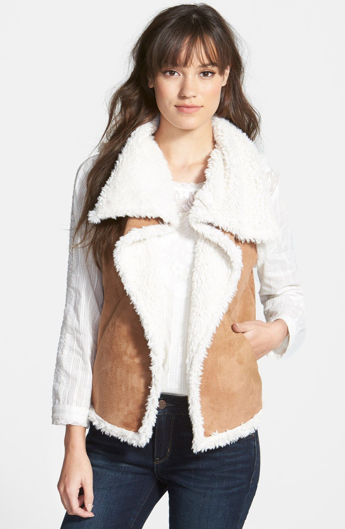 Alternate Image 1 Selected - Hinge Faux Shearling Vest